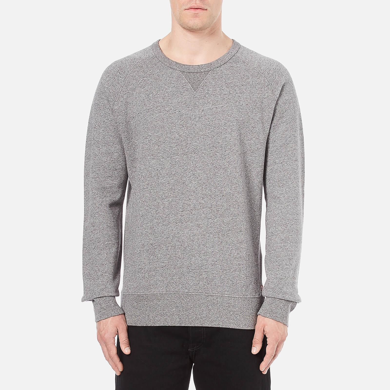 680273e0f5 Levi's Men's Original Crew Neck Sweatshirt - Medium Grey Heather Mens  Clothing | TheHut.com