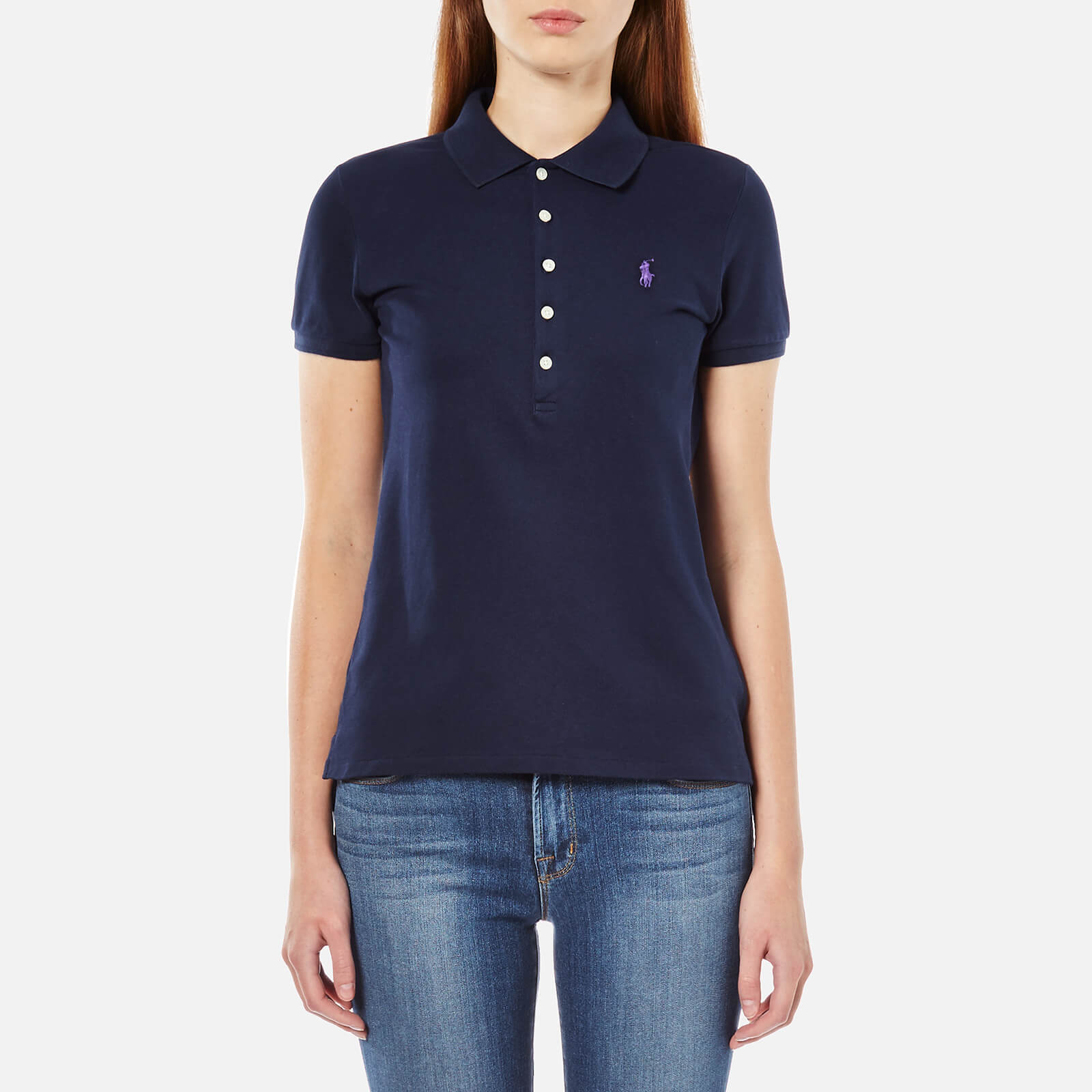 1517d593a Polo Ralph Lauren Women s Julie Polo Shirt - Cruise Navy - Free UK Delivery  over £50
