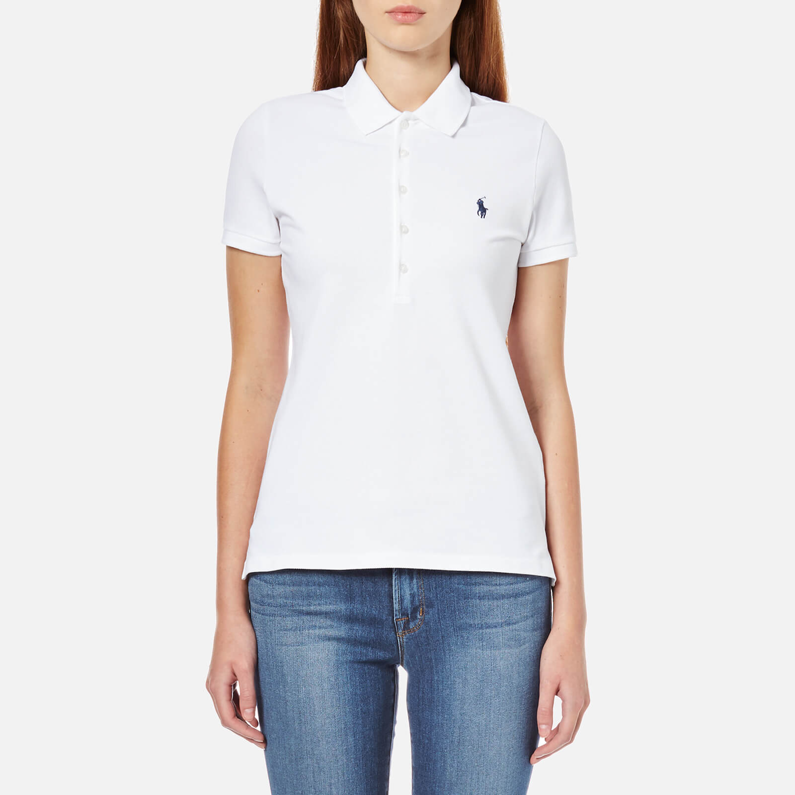 b87c9d0ebb852 Polo Ralph Lauren Women s Julie Polo Shirt - White - Free UK Delivery over  £50