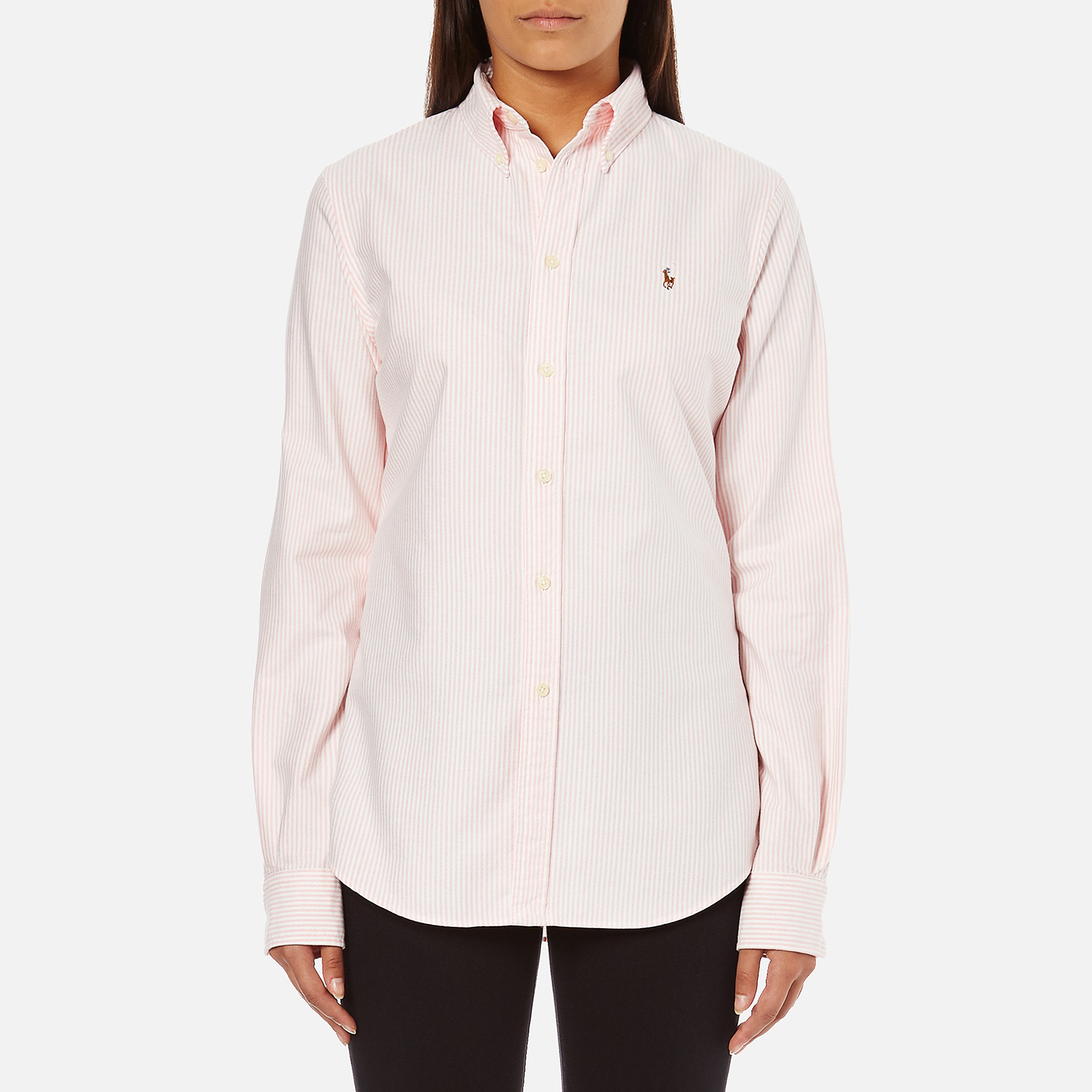 3fa3f49f66c Polo Ralph Lauren Women s Harper Shirt - Pink White - Free UK Delivery over  £50