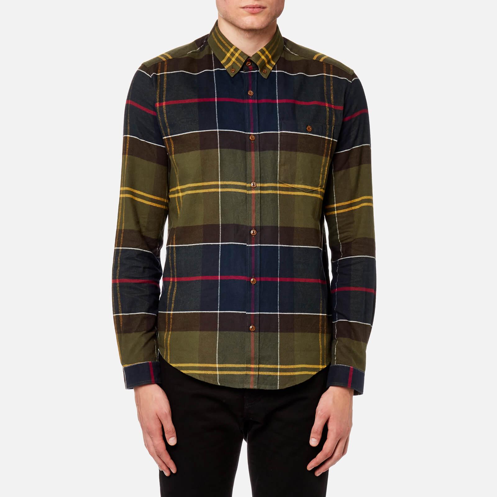 062fbe696d648 Barbour Heritage Men's Johnny Tartan Long Sleeve Shirt - Moss Green