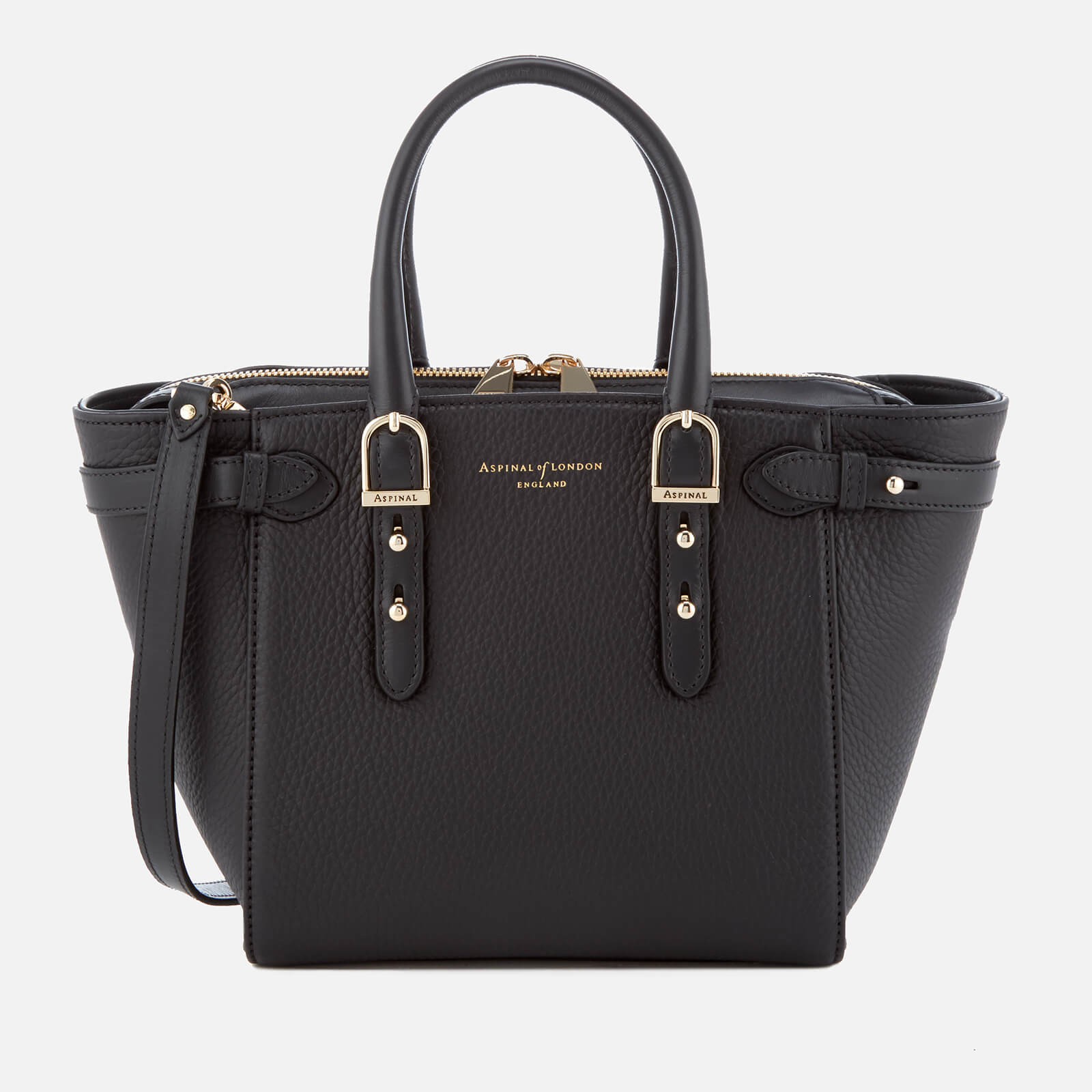 Aspinal of London Women's Marylebone Mini Tote Bag - Black Pebble的圖片搜尋結果