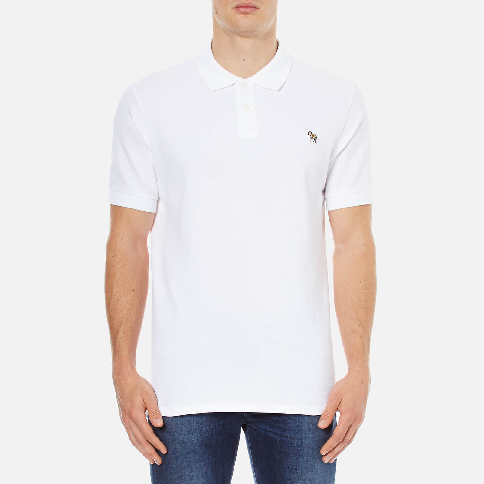 cc208afac PS Paul Smith Men s Basic Pique Zebra Polo Shirt - White - Free UK Delivery  over £50