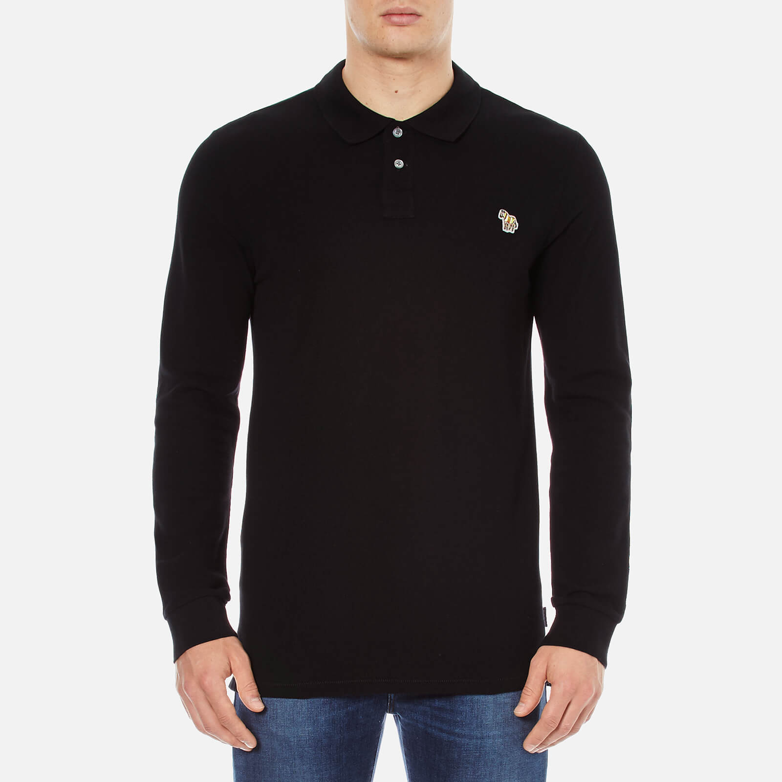 fbde6ec64 PS Paul Smith Men's Basic Long Sleeve Pique Zebra Polo Shirt - Black - Free  UK Delivery over £50