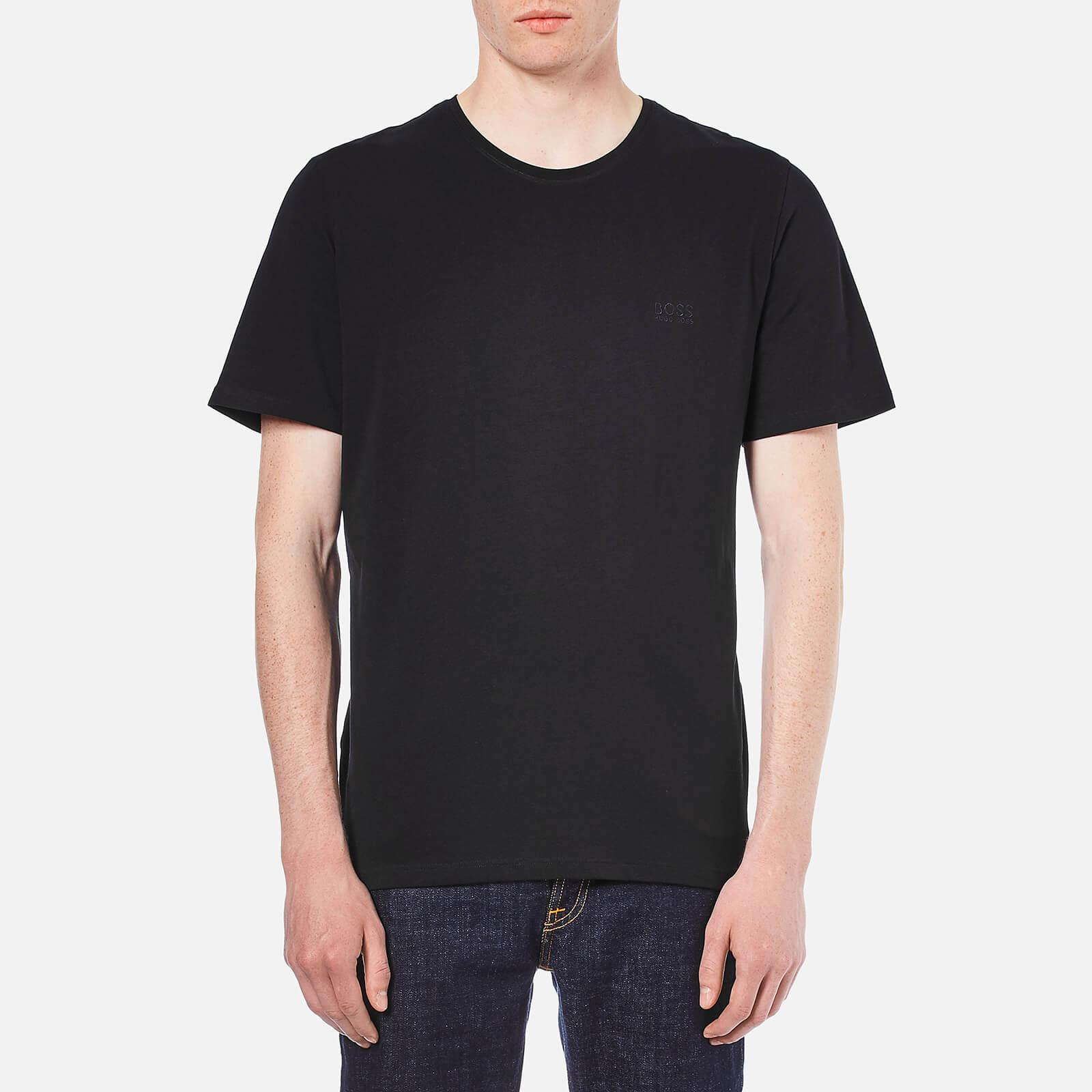e3ef864823 BOSS Hugo Boss Men's Crew Neck Small Logo T-Shirt - Black Clothing |  TheHut.com
