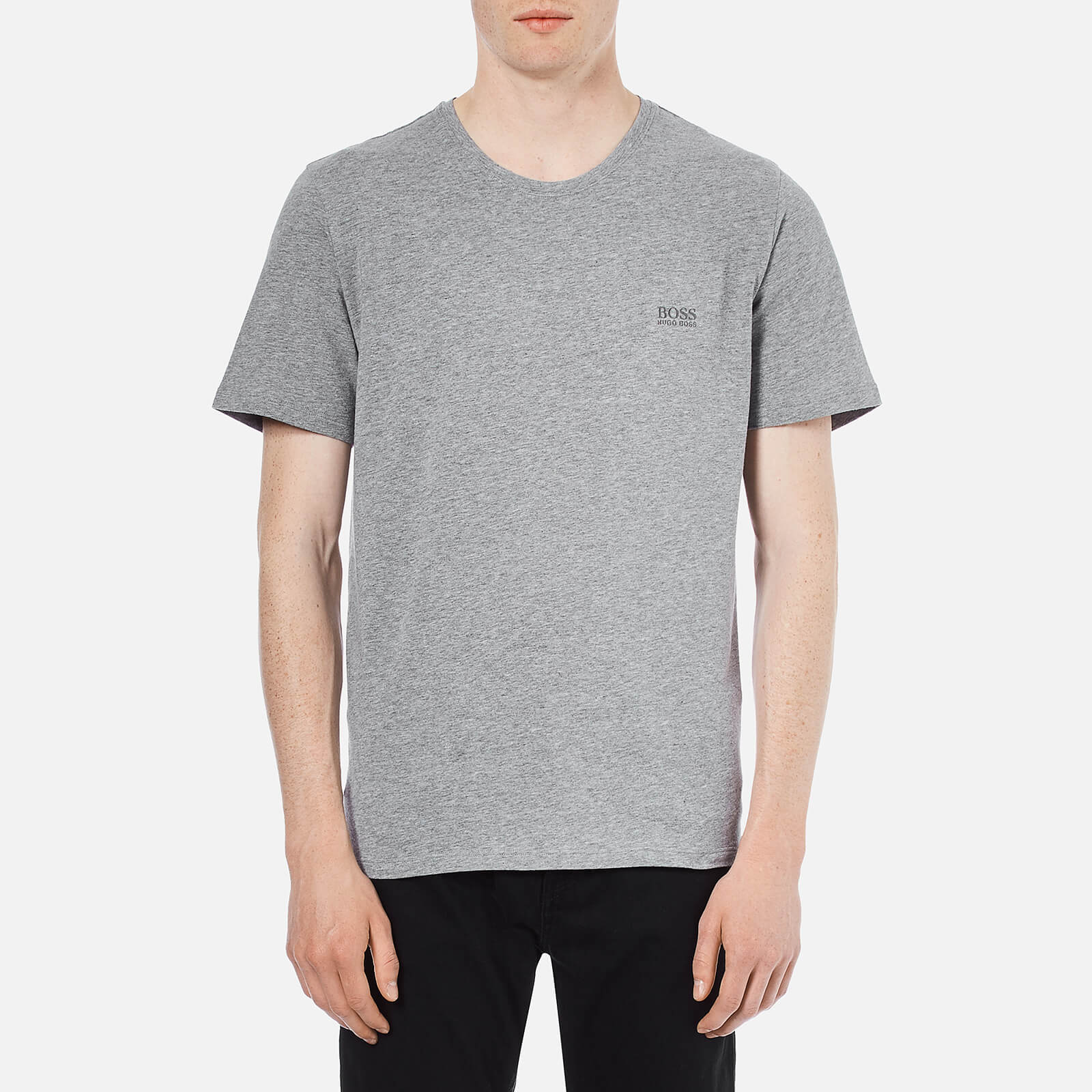 b970bf47d BOSS Hugo Boss Men's Crew Neck Small Logo T-Shirt - Grey - Free UK Delivery  over £50