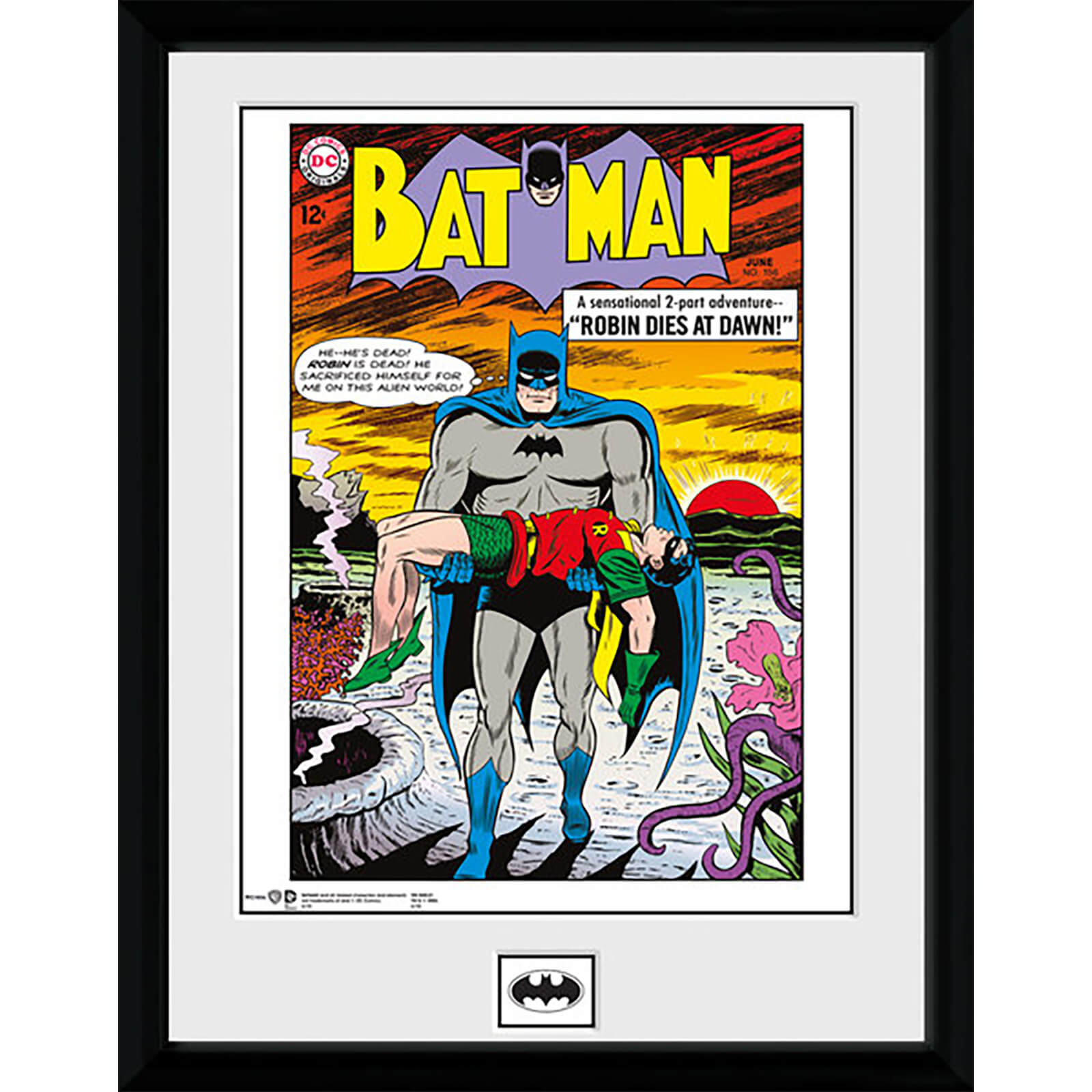 DC Comics Batman Comic Robin Dies at Dawn - 16 x 12 Inches Framed Photographic