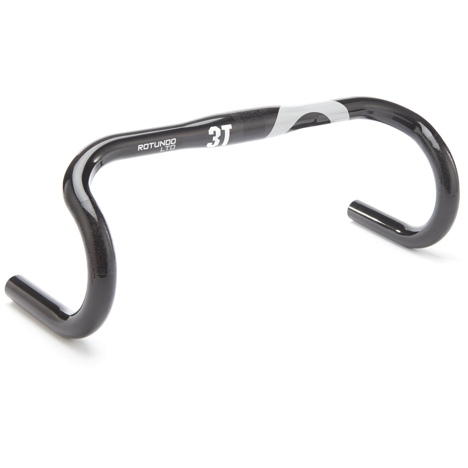 3T Rotundo Ltd Carbon Handlebar - Black/Silver