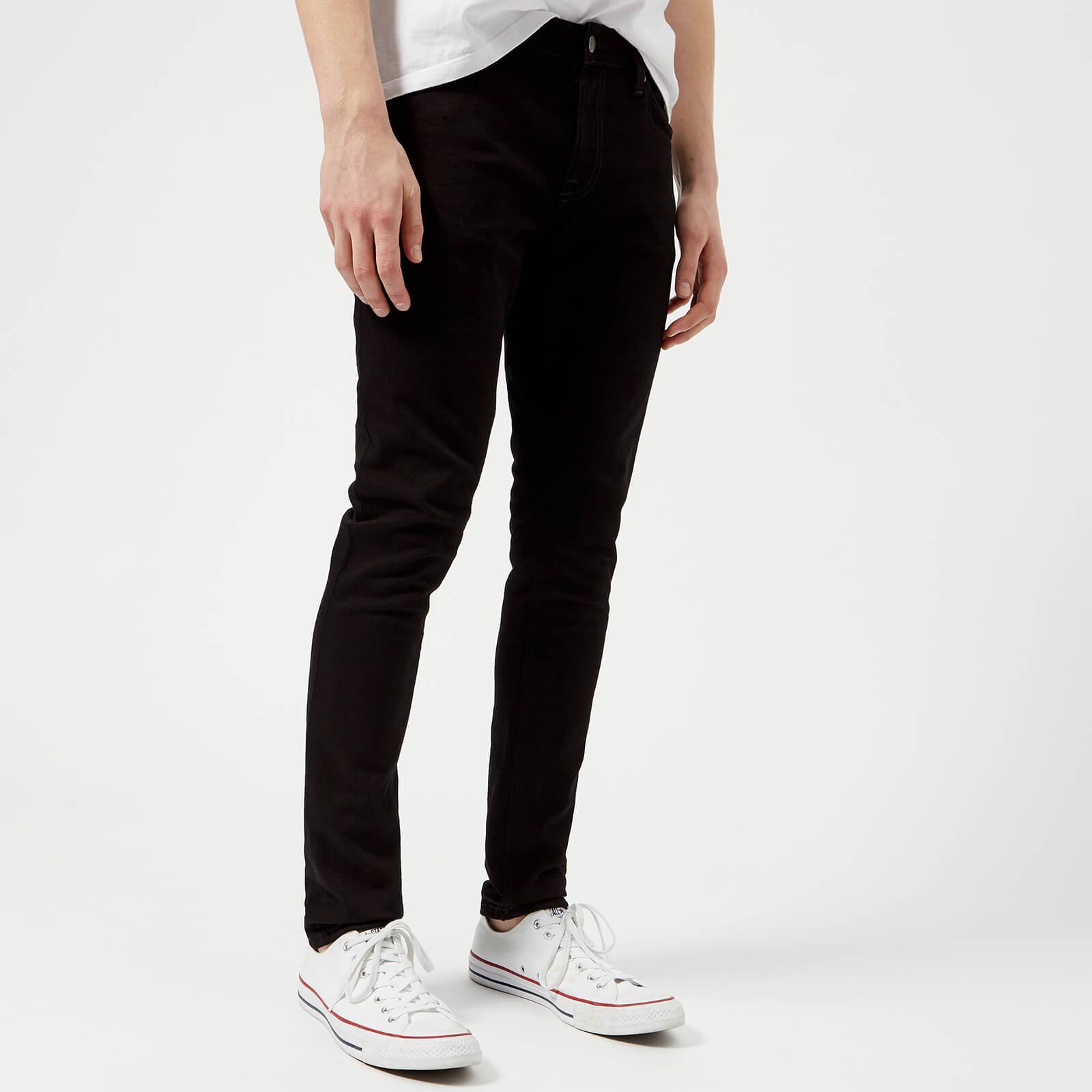 a0d14ed4394a Nudie Jeans Men s Skinny Lin Skinny Jeans - Black Black - Free UK Delivery  over £50