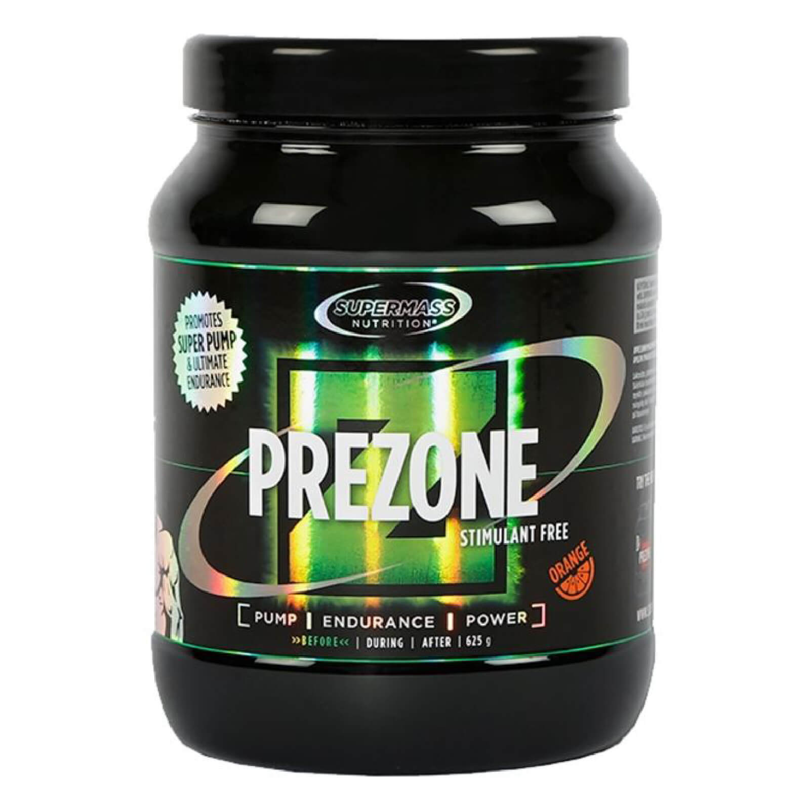 SUPERMASS PreZone Stimulant Free - Orange 625g