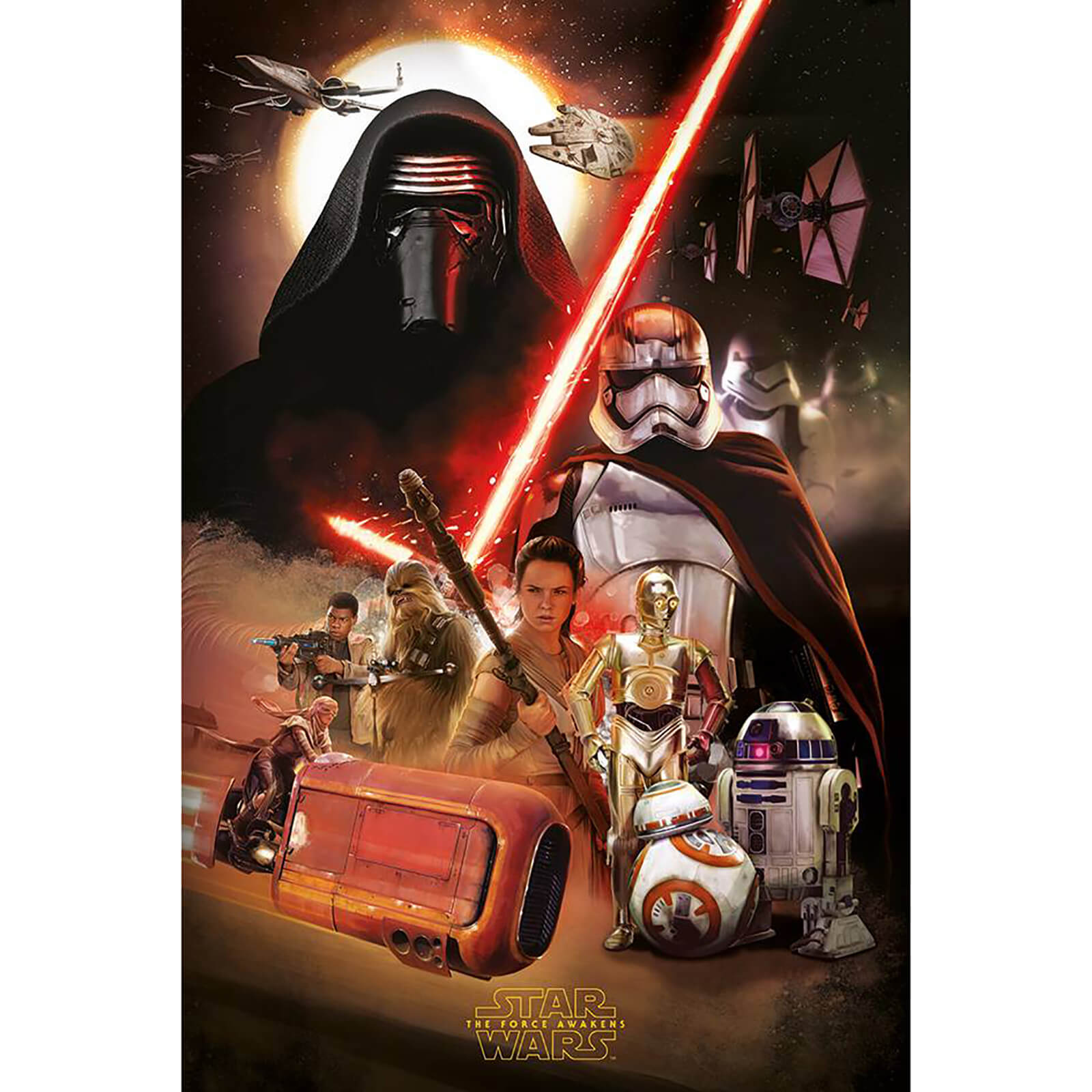 Star Wars: The Force Awakens Stormtrooper Running - 24 x 36 Inches Maxi Poster