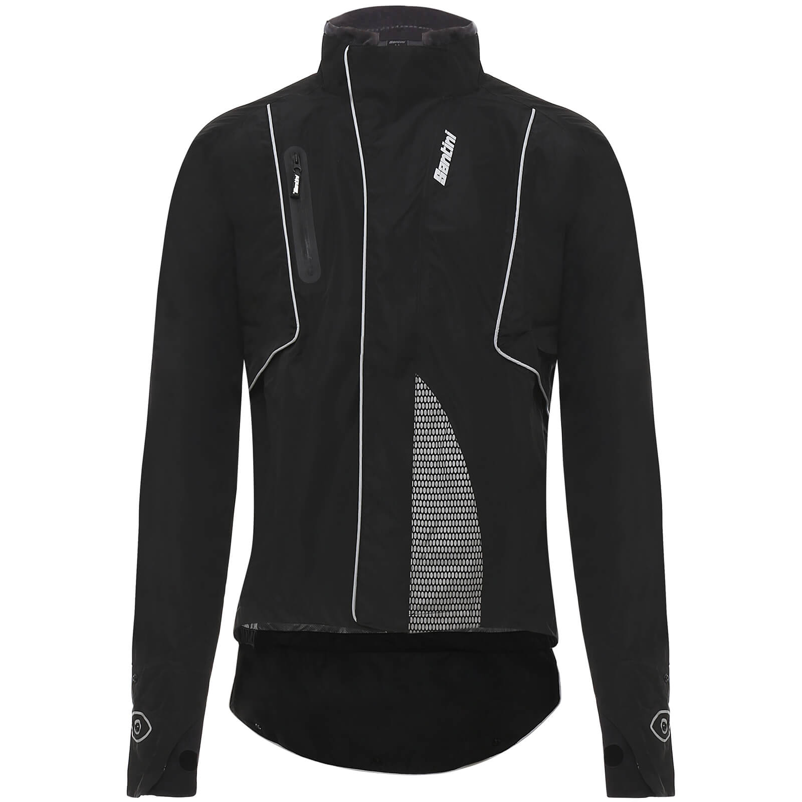 Santini DRUN Rainproof Jacket - Black