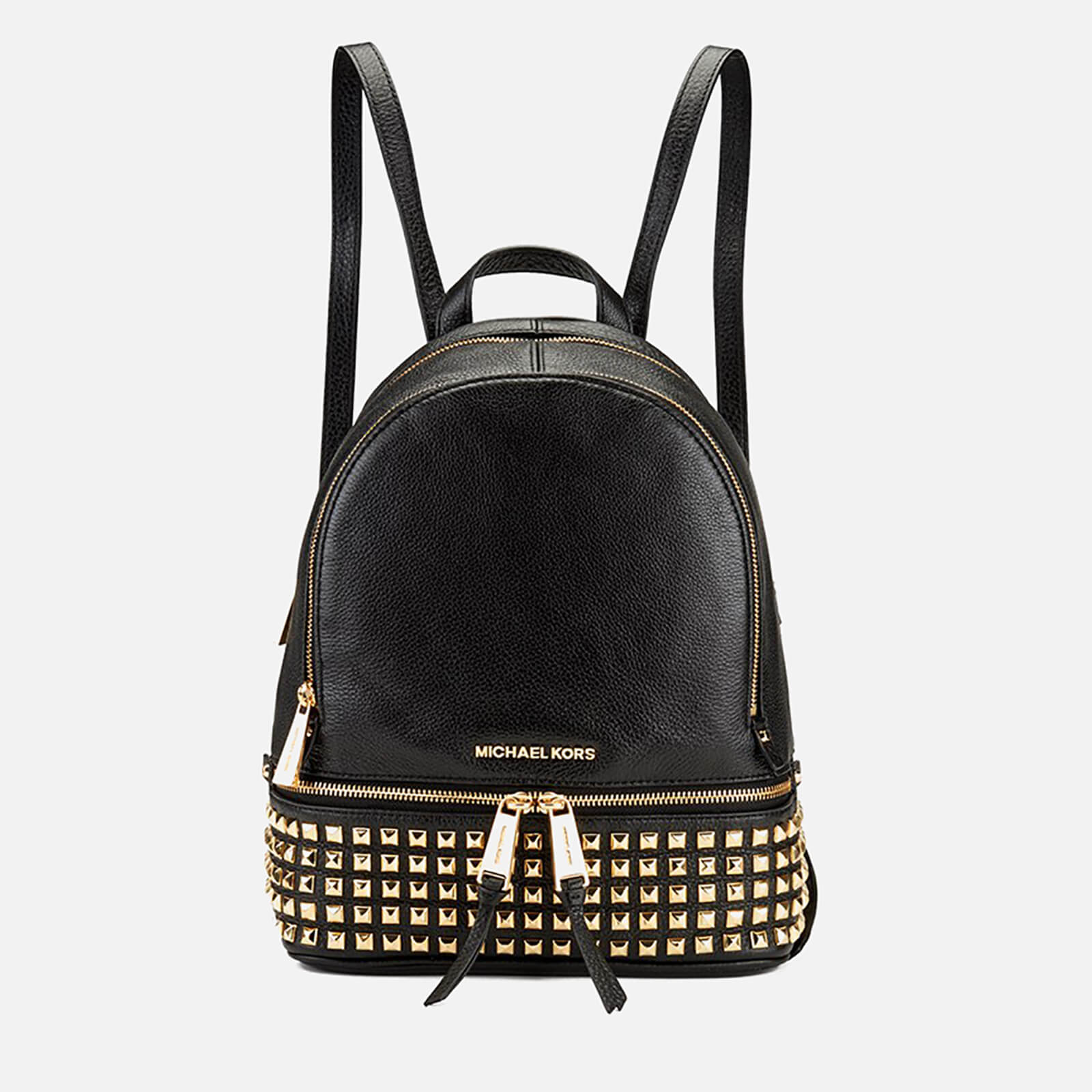 33c3e5dd19f9 MICHAEL MICHAEL KORS Women s Rhea Zip Studded Backpack - Black - Free UK  Delivery over £50