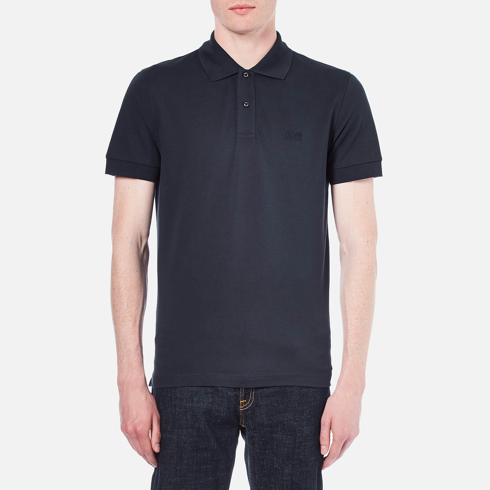 6d28d83d2 BOSS Green Men's C-Firenze-Logo Polo Shirt - Dark Blue Clothing | TheHut.com