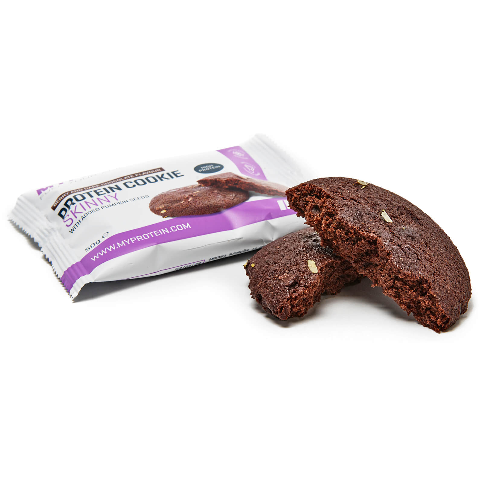 Skinny Cookie, Dark Chocolate and Berry, 50g