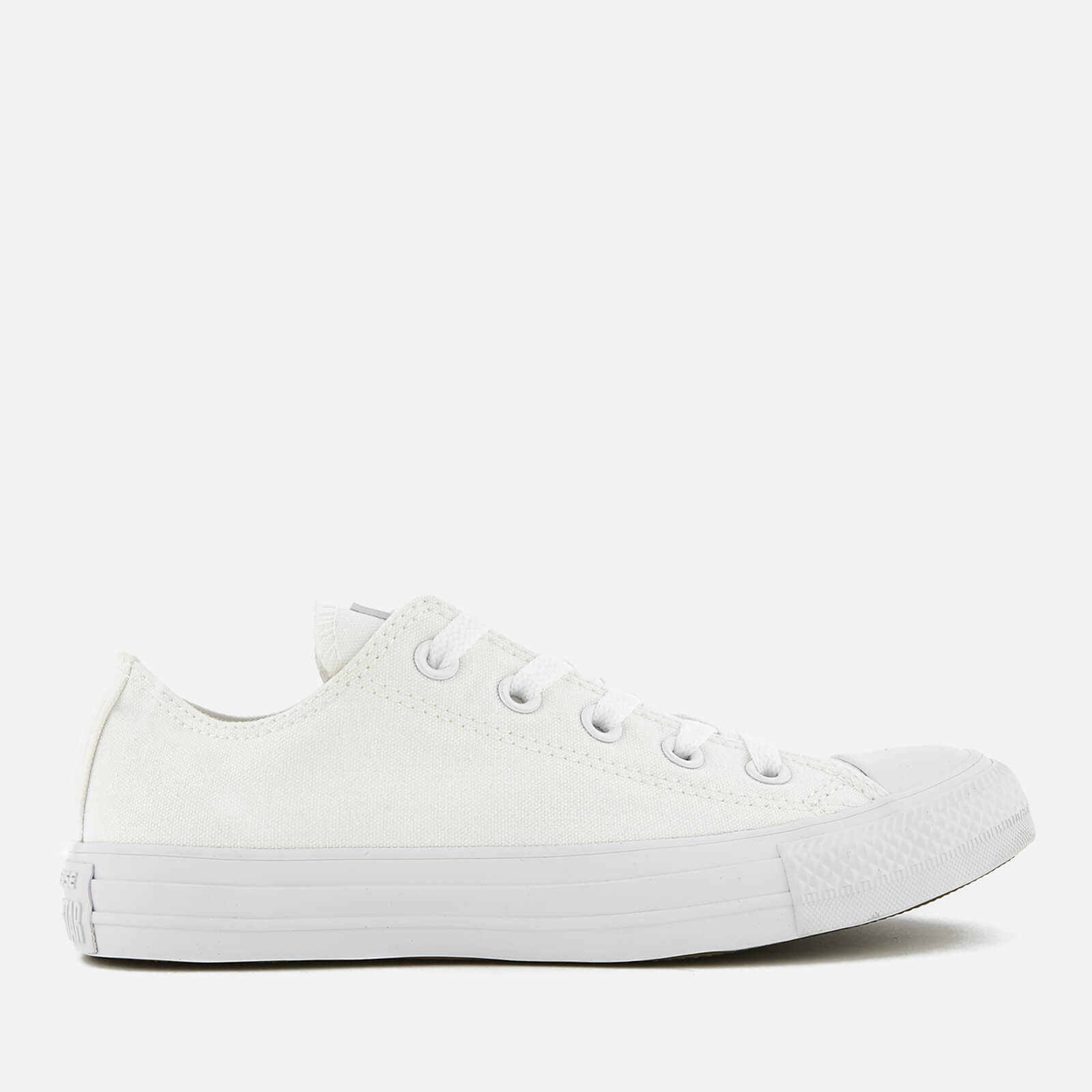abeaacb86bff Converse Chuck Taylor All Star Ox Canvas Trainers - White Monochrome Mens  Footwear