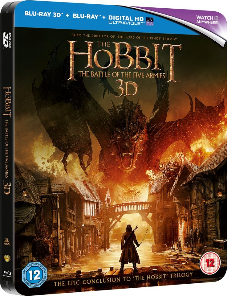 The Hobbit: Battle of the Five Armies 3D (Includes 2D Verision) - Limited Edition Steelbook
