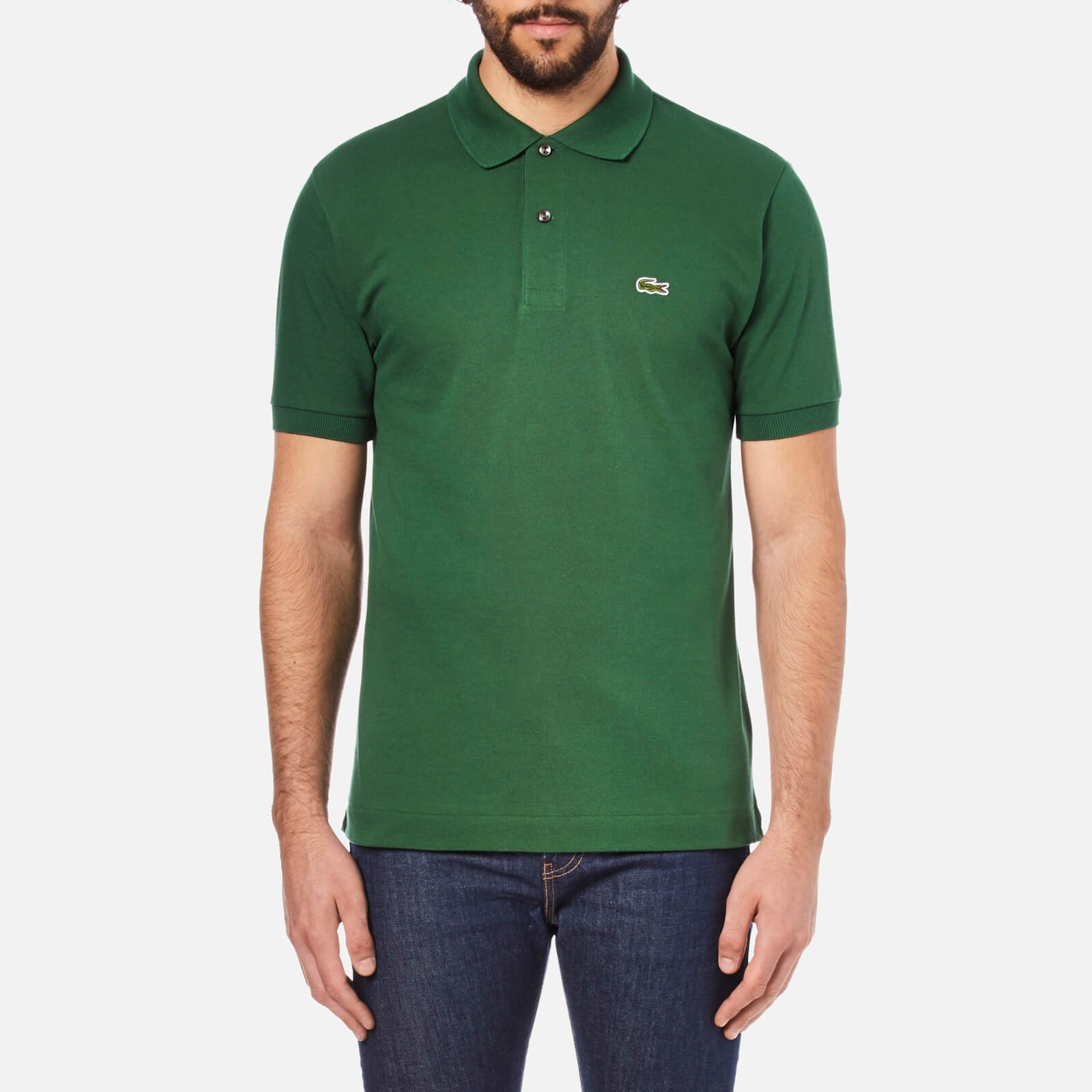 20294a70 Lacoste Men's Short Sleeve Pique Polo Shirt - Chlorophyll