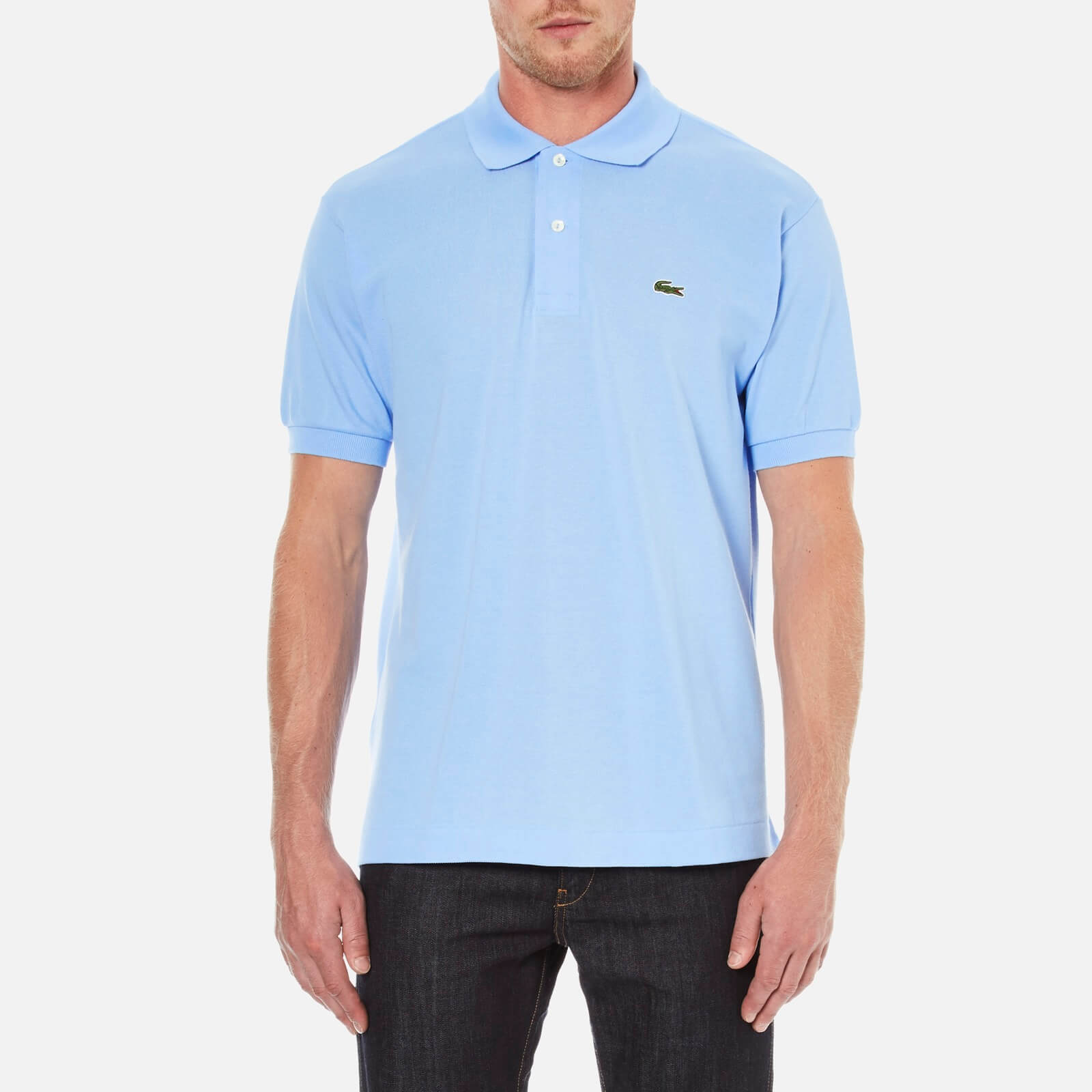 bf1772b2 Lacoste Men's Short Sleeve Pique Polo Shirt - Nattier Blue