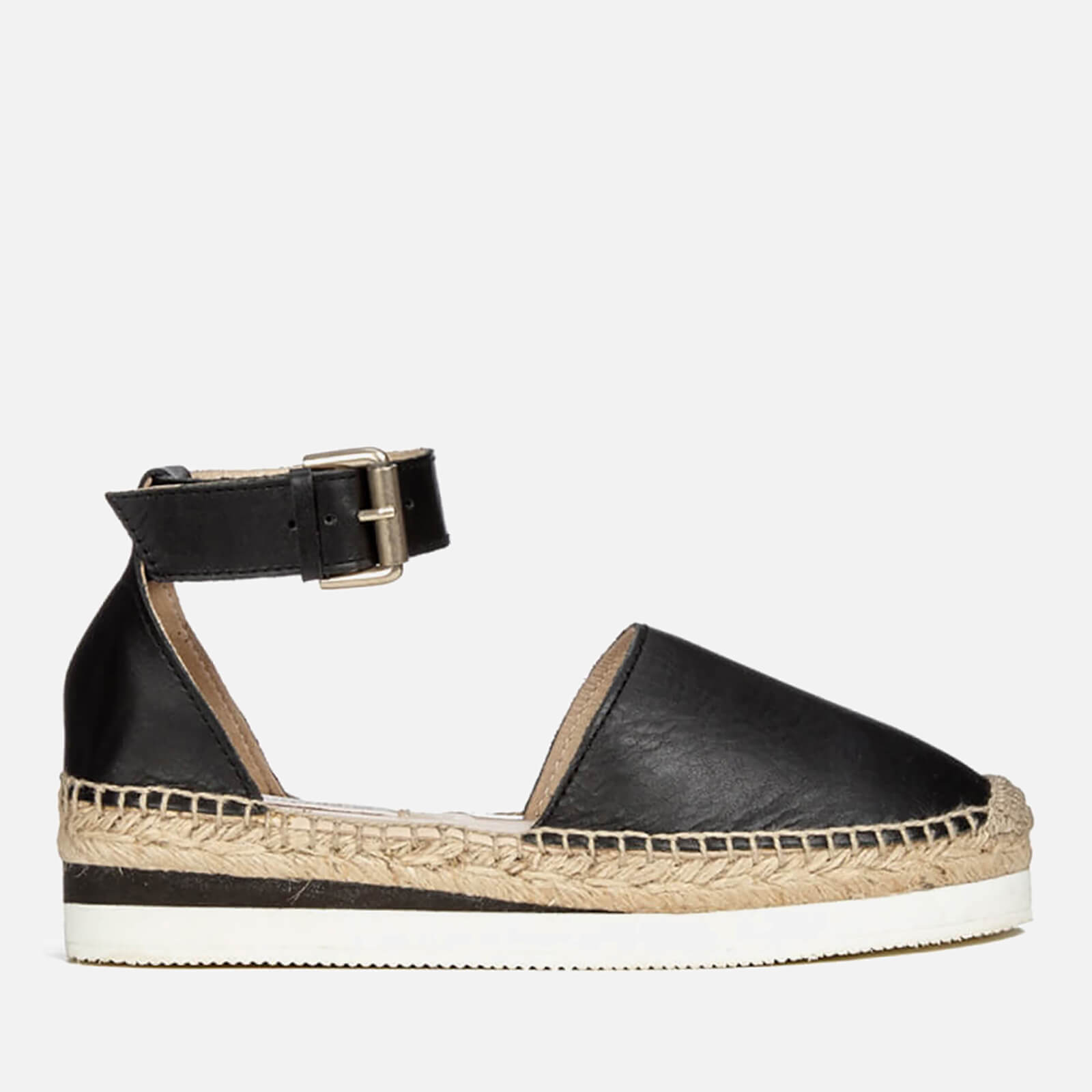 531e936ae9 See By Chloé Women's Leather Espadrille Flat Sandals - Black - Free UK  Delivery over £50