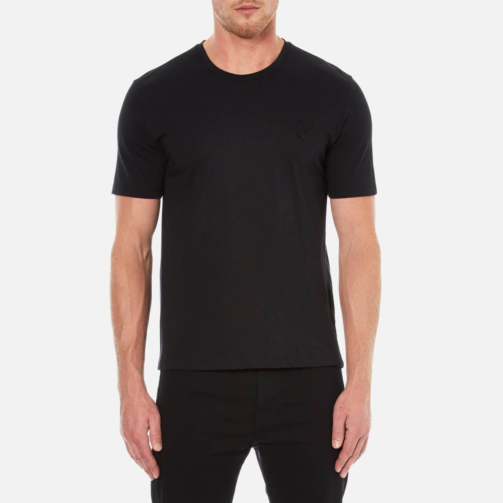 5cb3ce923 Versace Collection Men's Crew Neck T-Shirt - Black - Free UK Delivery over  £50