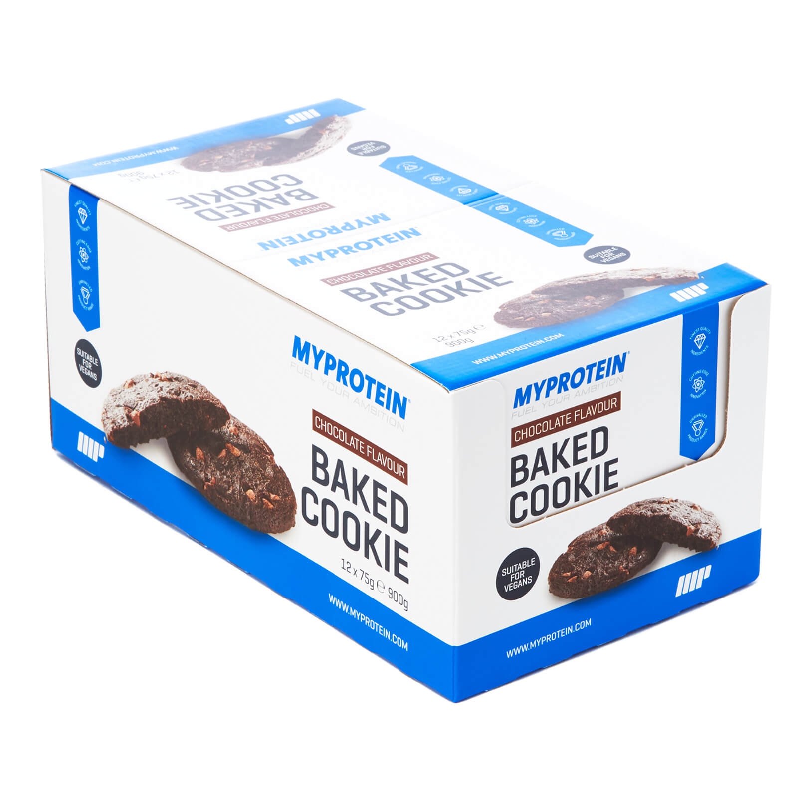 Baked Cookie, Chocolate, 12x75g