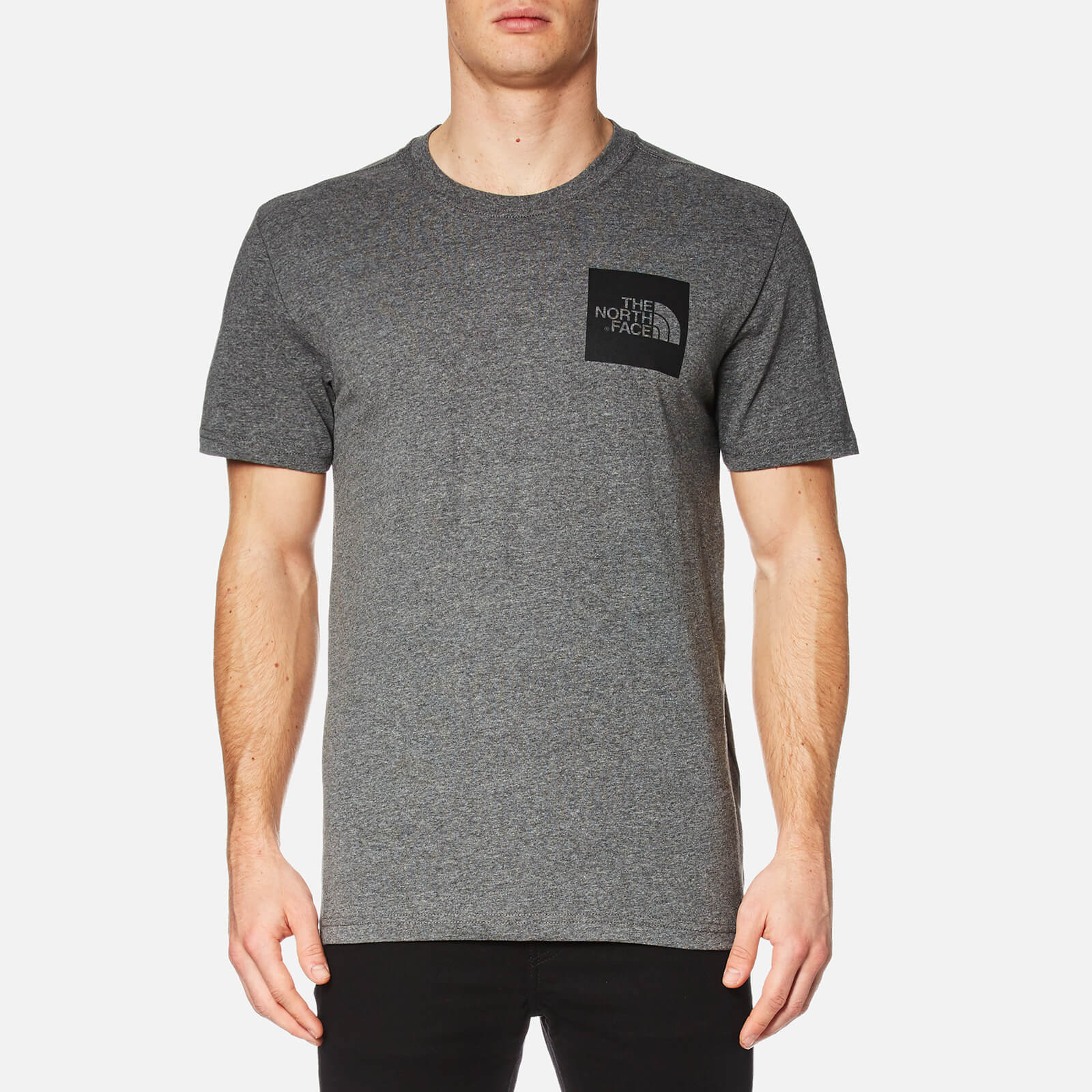 1c97d1ff7 The North Face Men's Fine Short Sleeve T-Shirt - TNF Medium Grey Heather