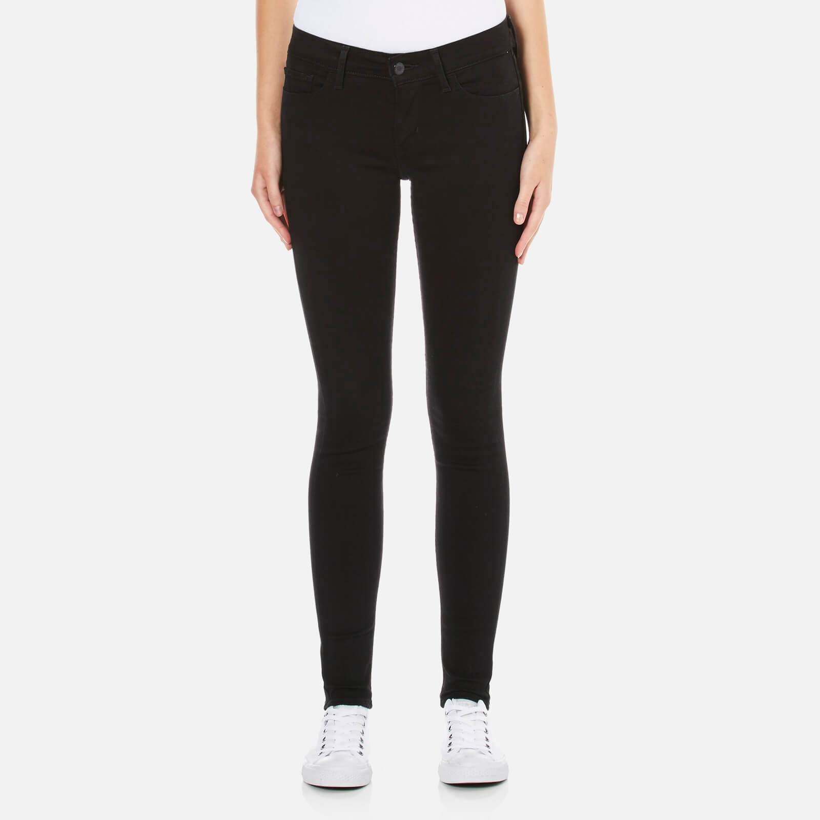 613378e9 Levi's Women's 710 FlawlessFX Super Skinny Jeans - Black Cove Clothing |  TheHut.com