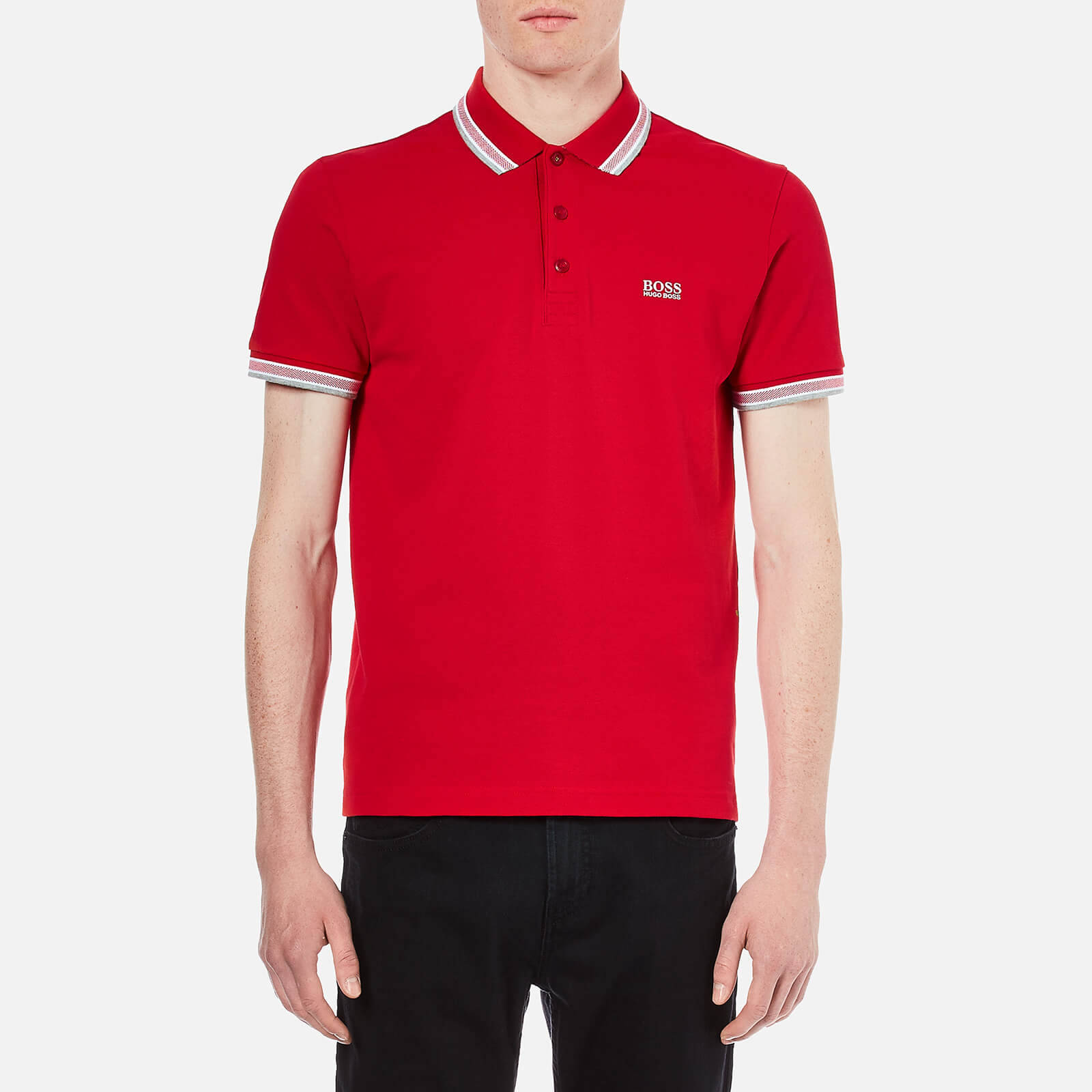 4c7d6664a BOSS Green Men's Paddy Polo Shirt - Medium Red - Free UK Delivery over £50