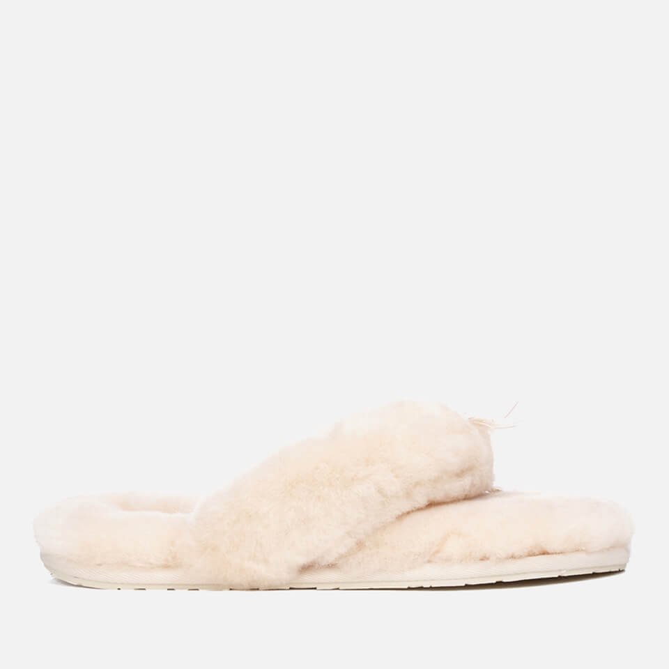 4e4036eb1df UGG Women's Fluff Flip Flop II Slippers - Natural