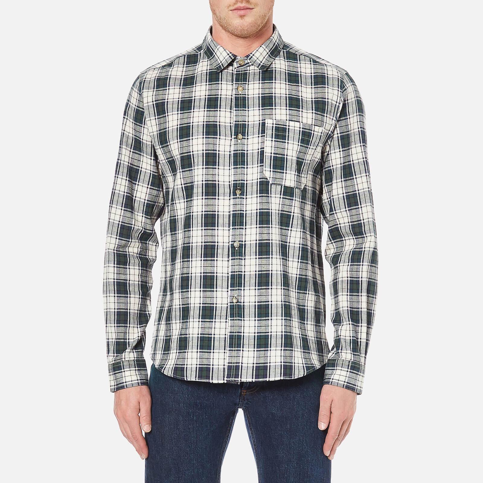 b5a6463ded9f A.P.C. Men's Surchemise Trevor Check Shirt - Ecru - Free UK Delivery over  £50