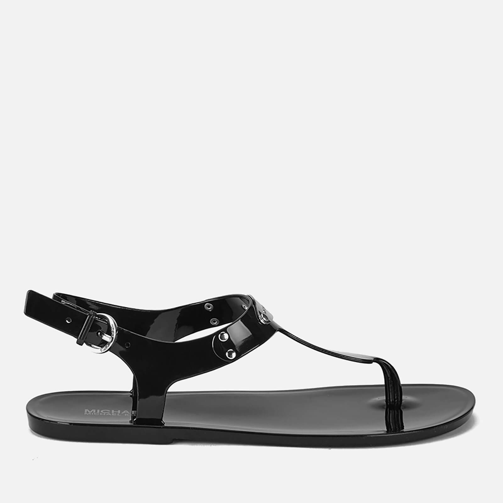 39f636c11b3 MICHAEL MICHAEL KORS Women s MK Plate Jelly Sandals - Black - Free UK  Delivery over £50