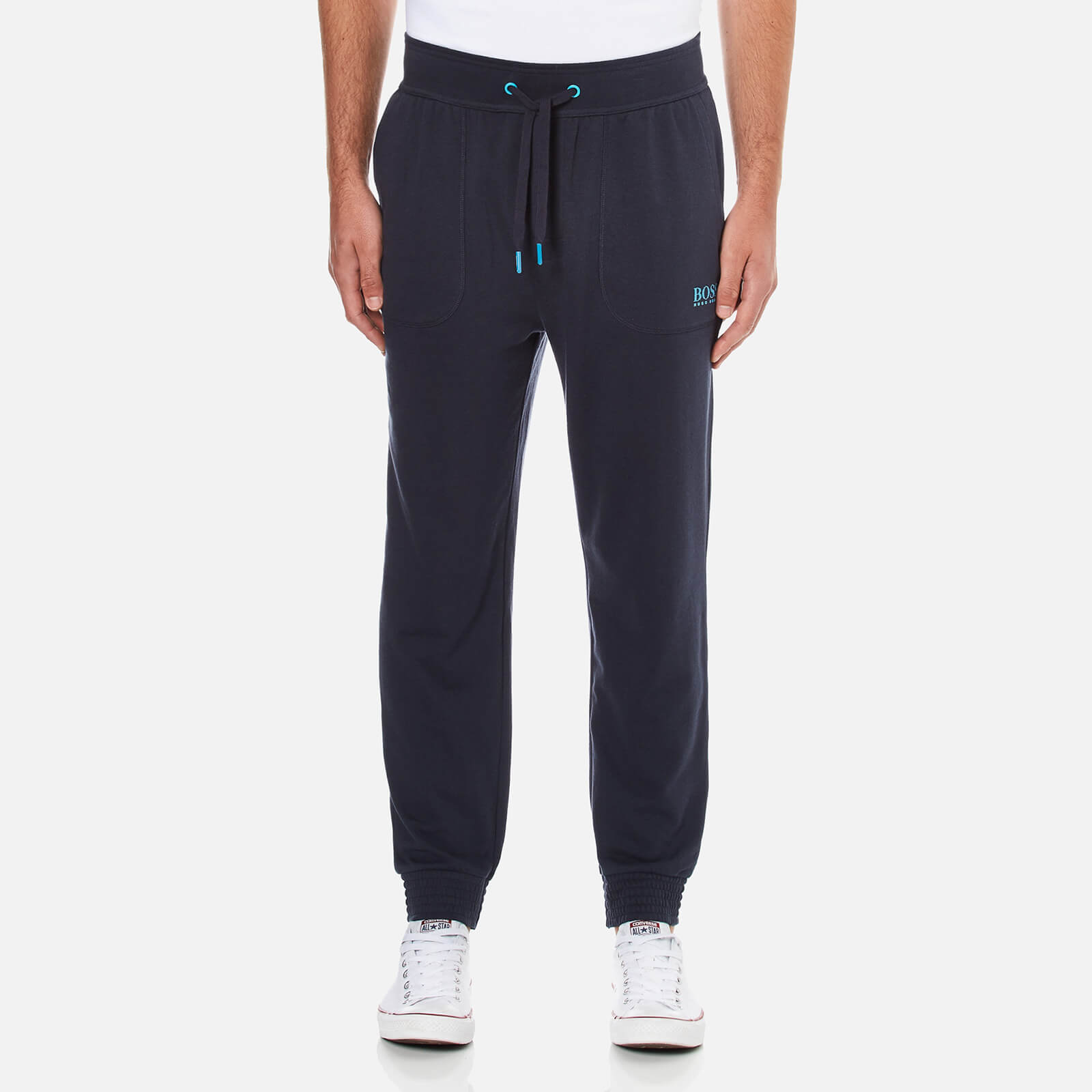 66cf05b101 BOSS Hugo Boss Men's Cuffed Sweat Pants - Navy - Free UK Delivery over £50