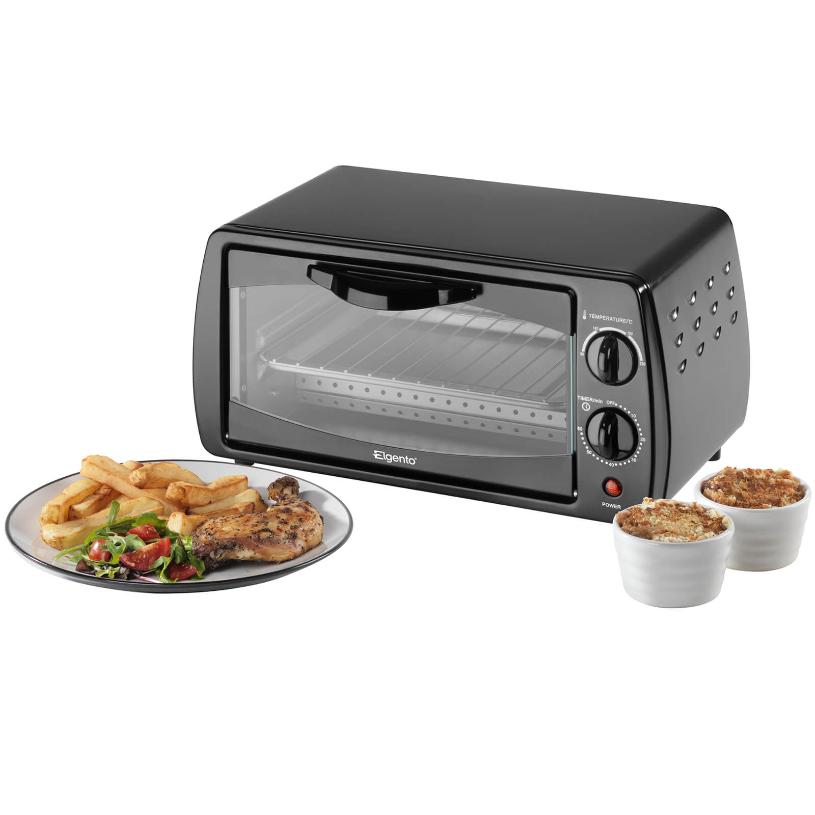 Elgento E14025 Mini Oven - Black - 9L