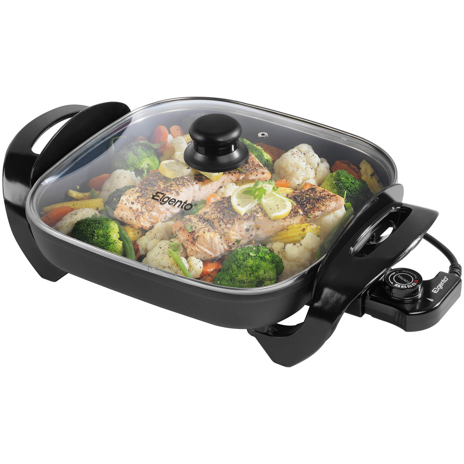 Elgento E14024 Electric Frying Pan Black 30cm Iwoot