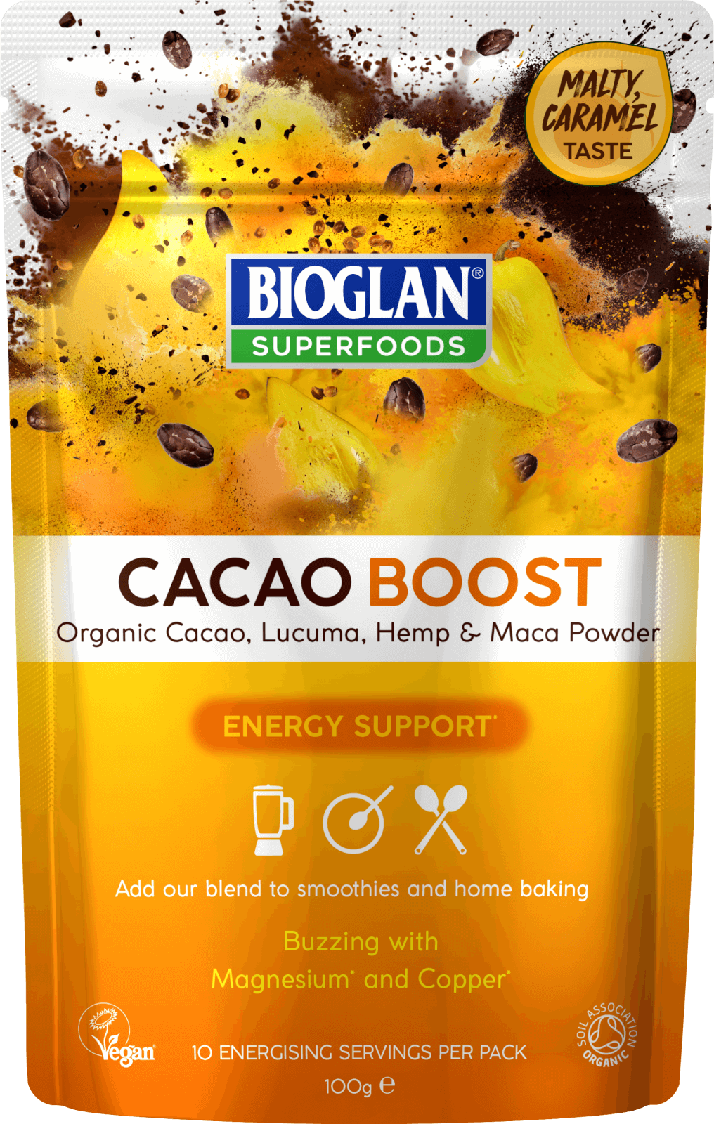Bioglan Superfoods Supergreens Cacao Boost - 100g