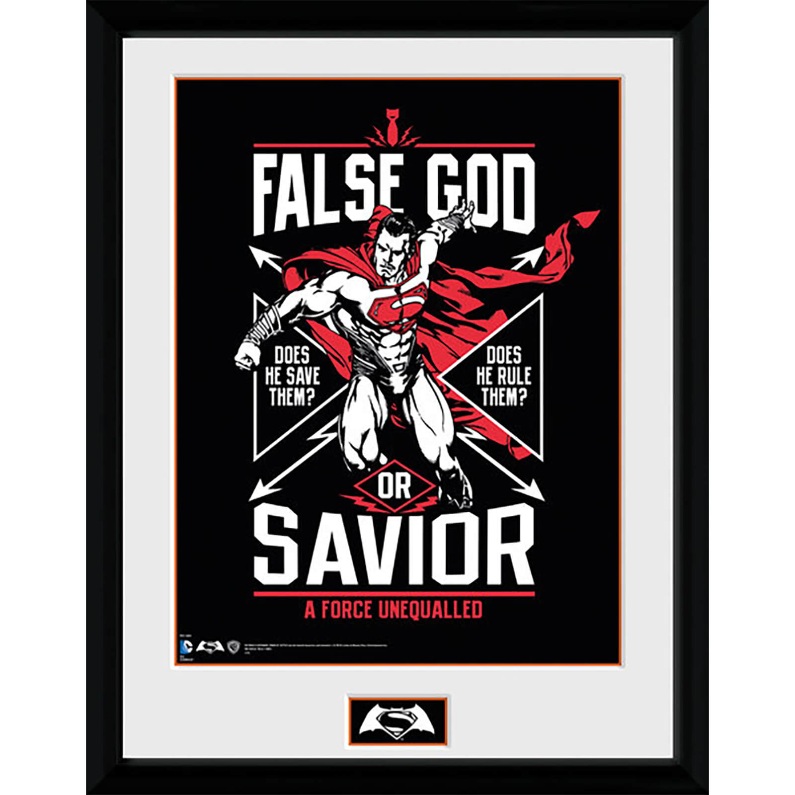 DC Comics Batman v Superman Dawn of Justice False God - 16 x 12 Inches Framed Photographic