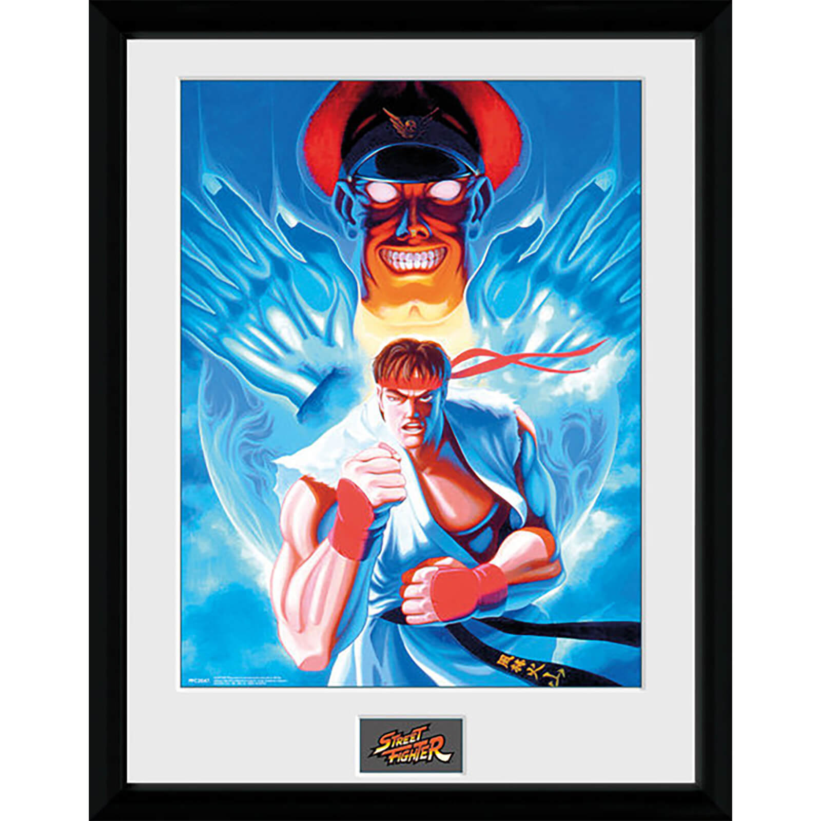 Street Fighter Ryu and Bison - 16 x 12 Inches Framed Photographic