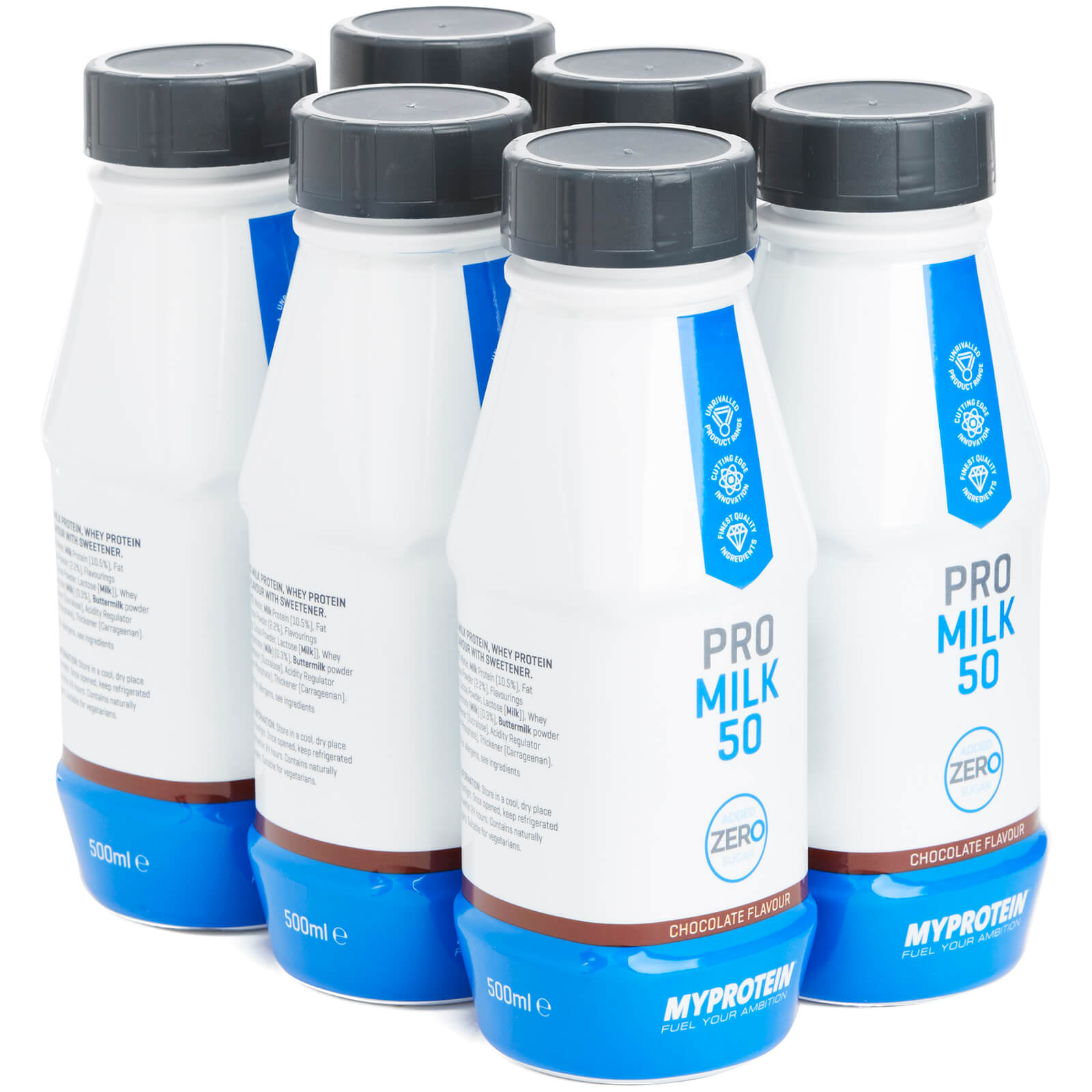Pro Milk 50 Zero, Chocolate, 6 x 500ml