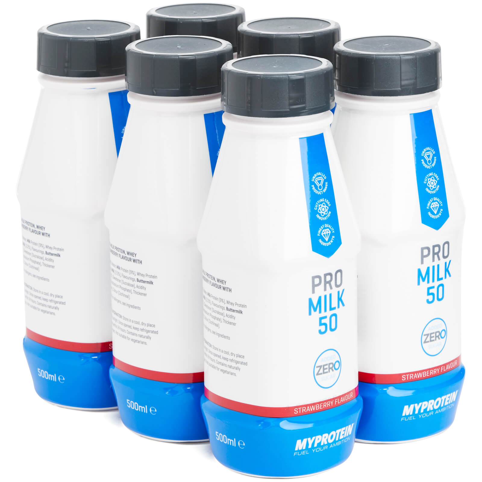 Pro Milk 50 Zero, Strawberry, 6 x 500ml