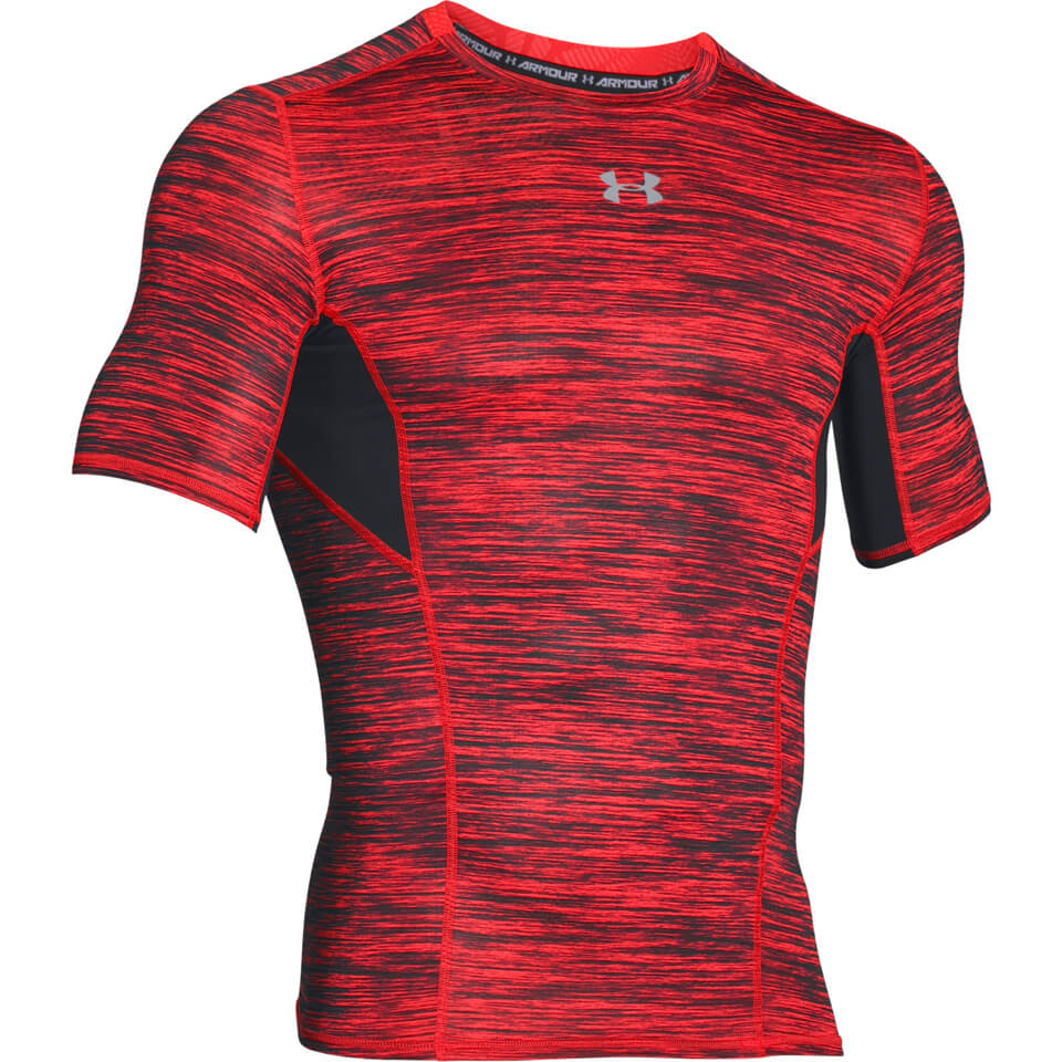 Under Armour Men's HeatGear CoolSwitch Compression Short Sleeve Shirt Red