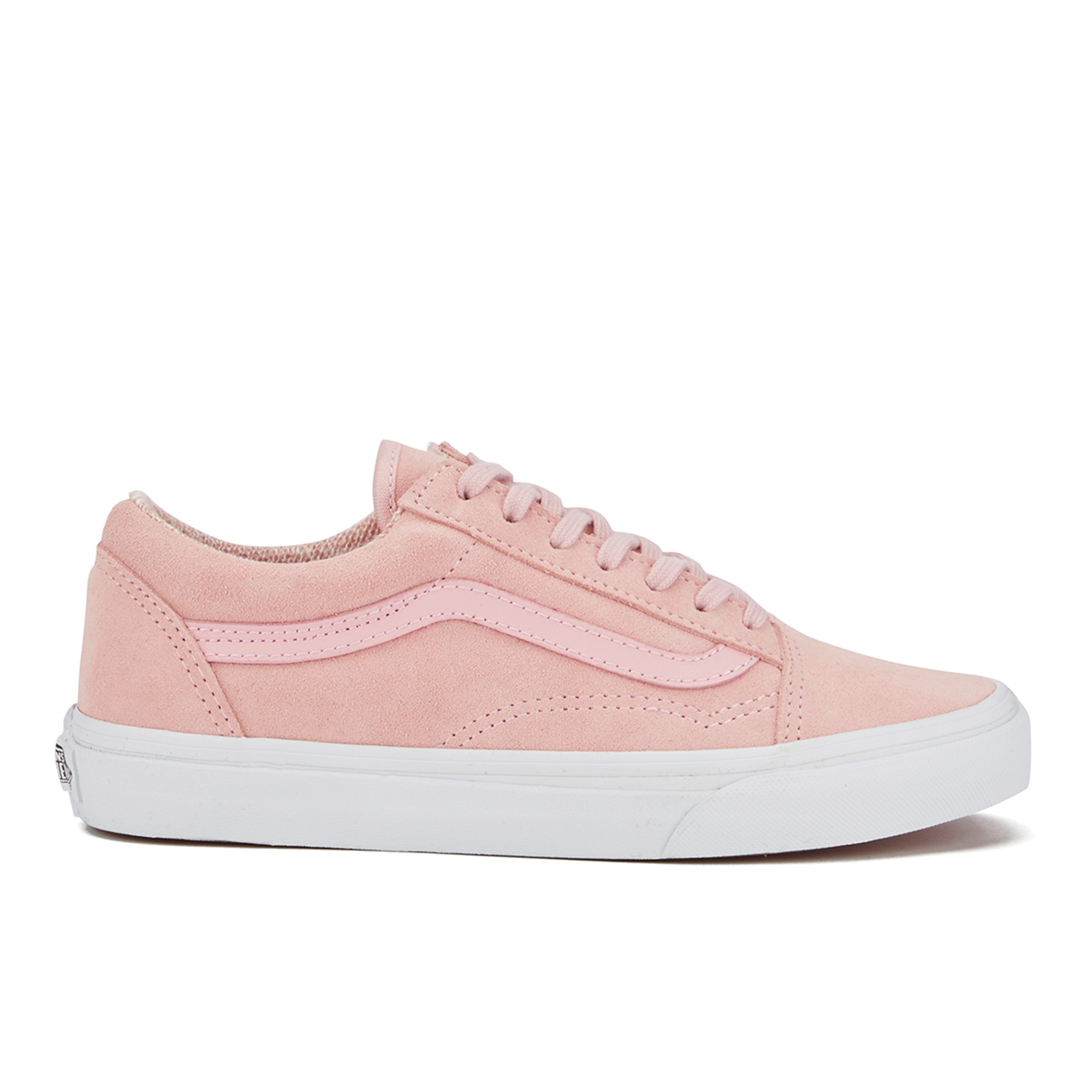 94846c4975fc Vans Women s Old Skool Suede Woven Trainers - Peachskin True White - Free  UK Delivery over £50
