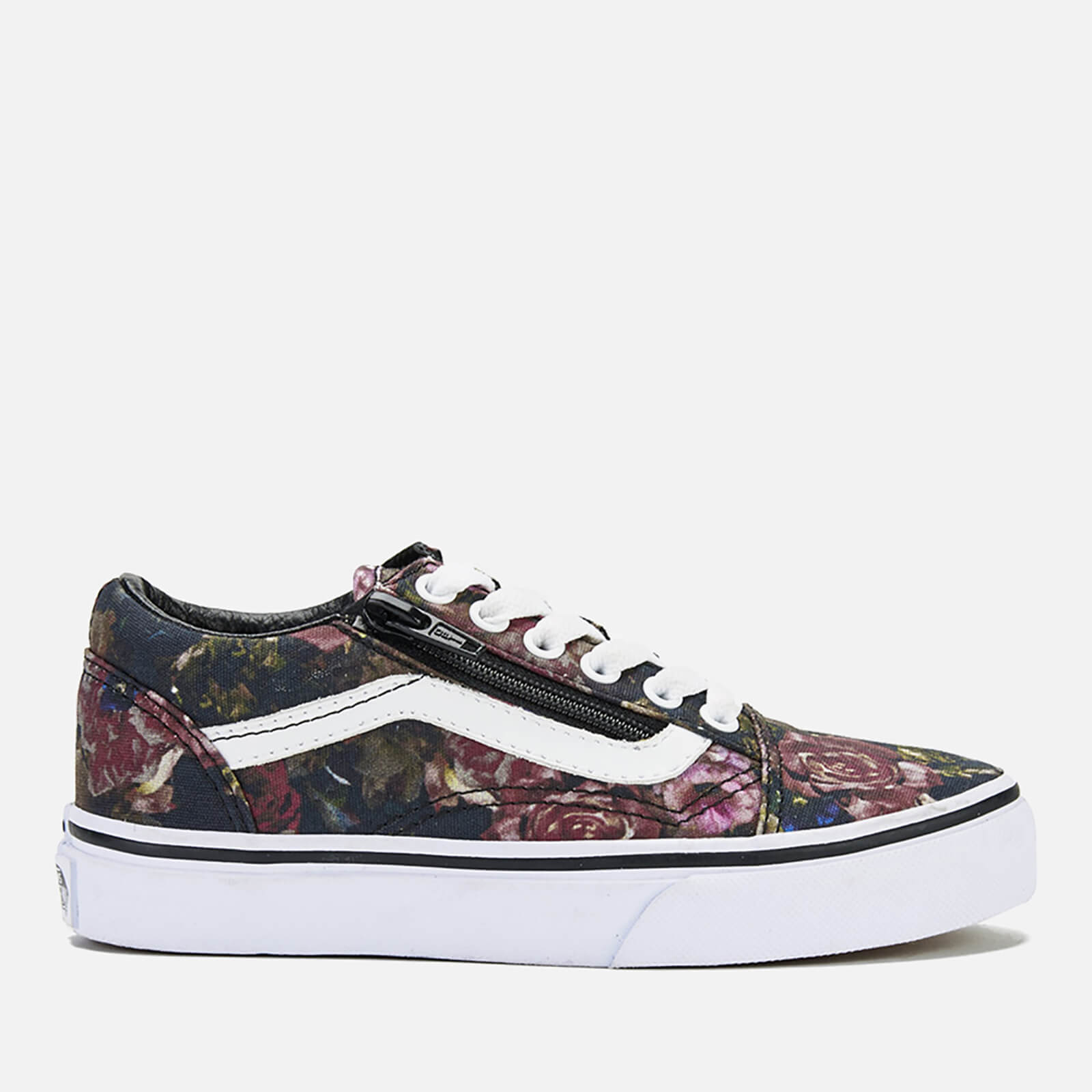 1e0b7cd540 Vans Kids  Old Skool Zip Trainers - Moody Floral Black True White ...