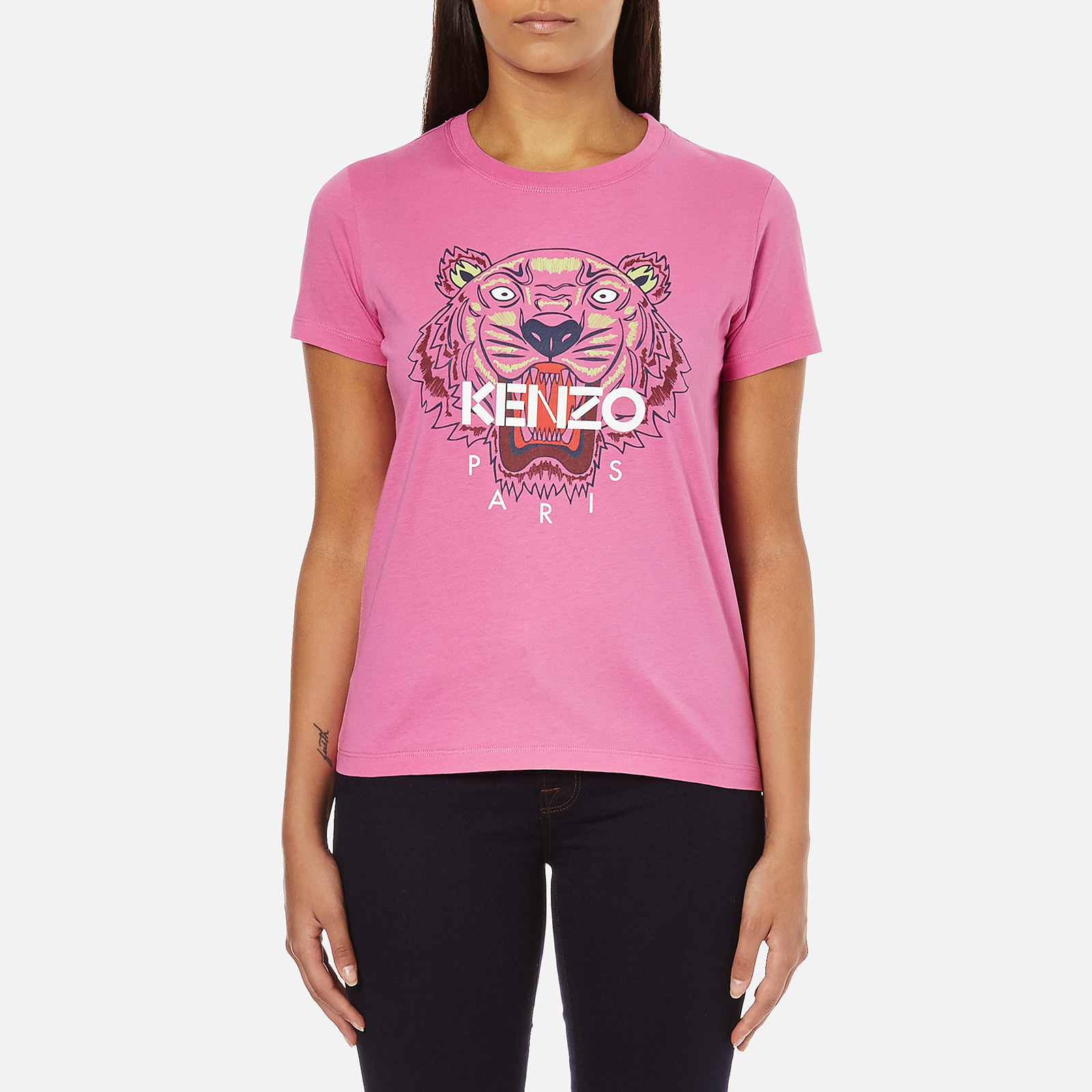 496f51871e85 KENZO Women's Tiger Embroidered T-Shirt - Begonia - Free UK Delivery over £ 50