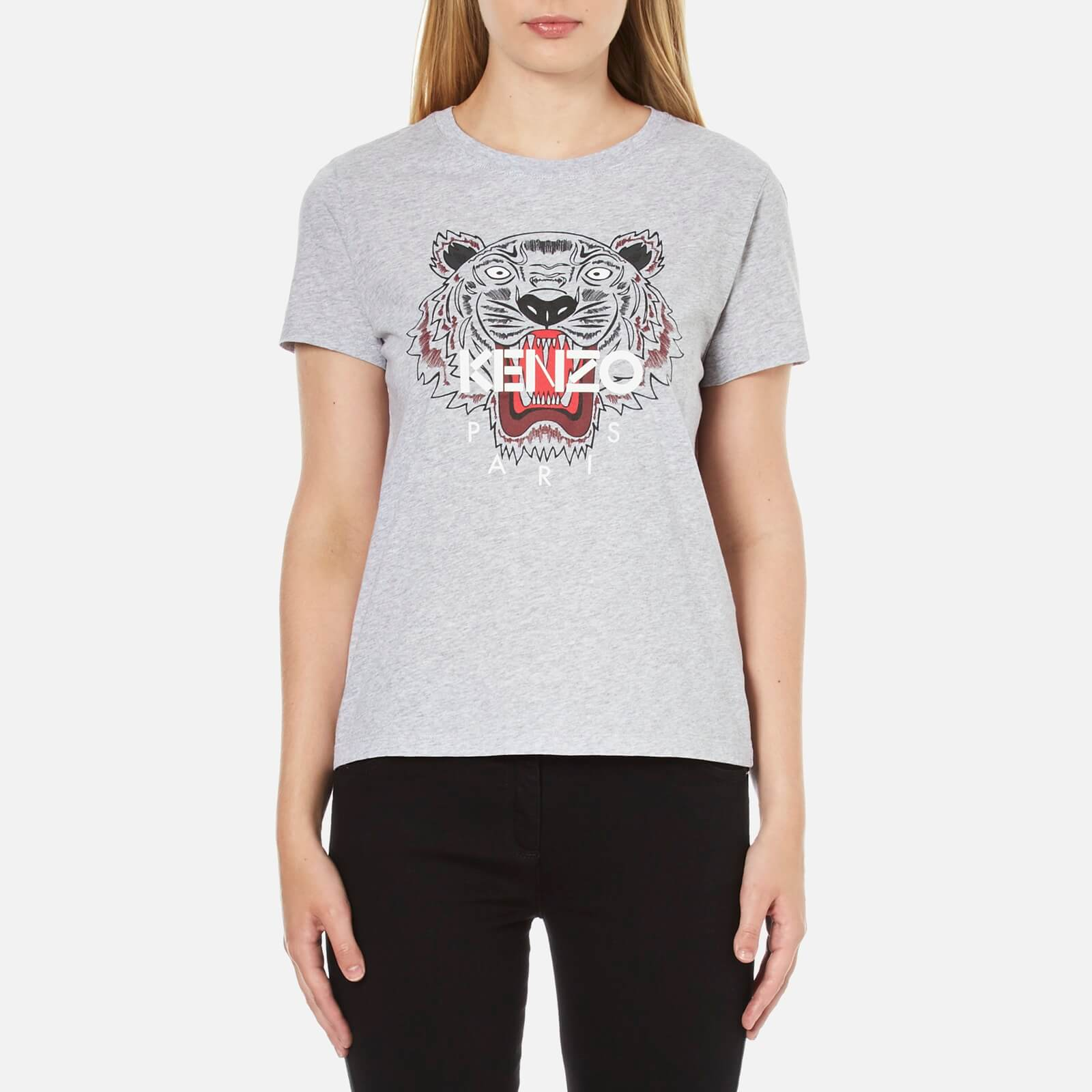 1c50d095d KENZO Women's Tiger T-Shirt - Light Grey - Free UK Delivery over £50