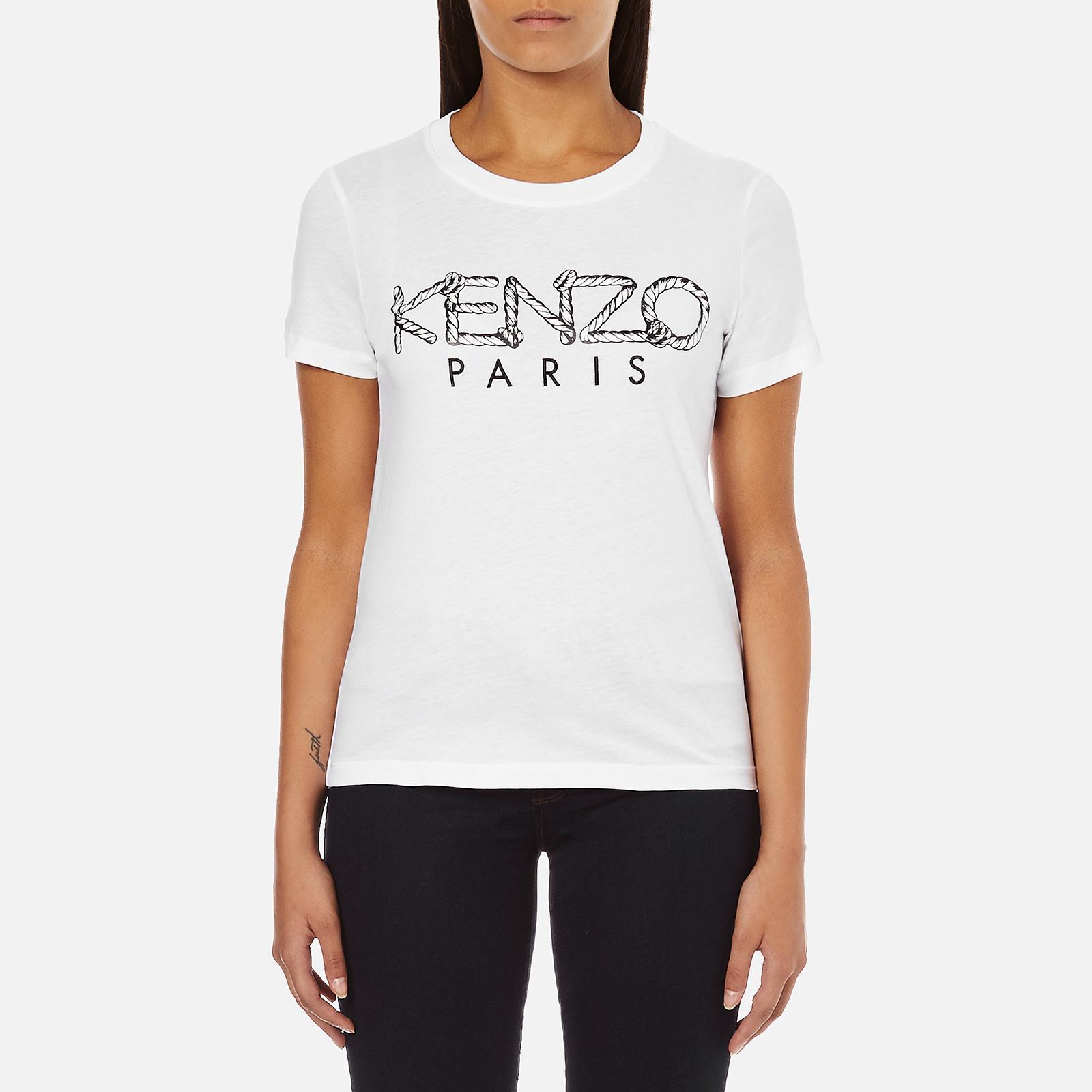 baca5877 KENZO Women's Paris Rope Logo T-Shirt - White