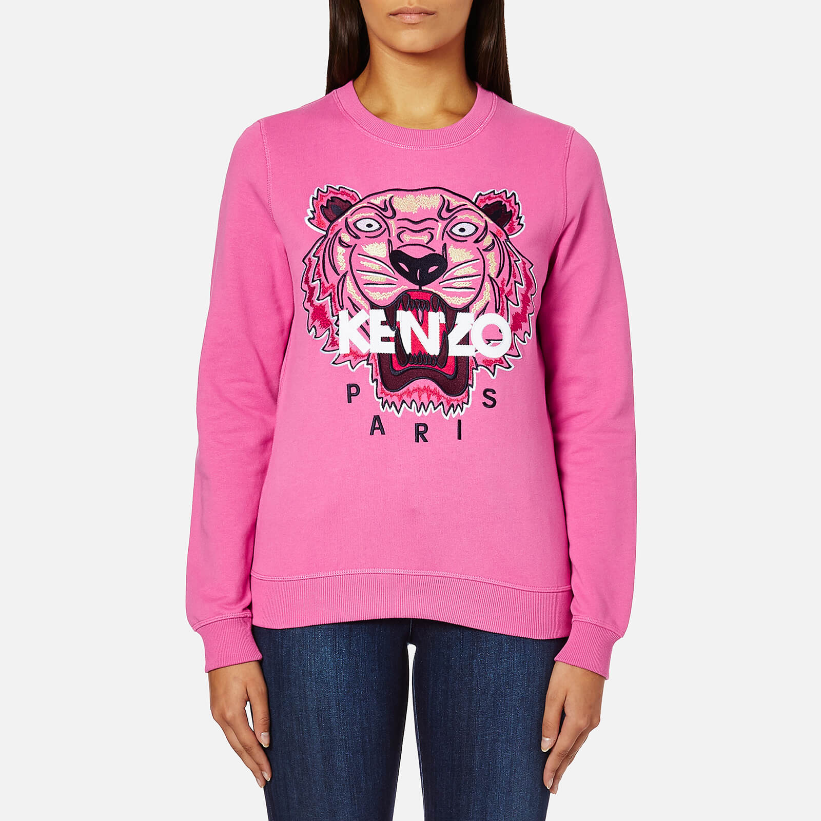 24738d22 KENZO Women's Tiger Embroidered Sweatshirt - Bergonia - Free UK Delivery  over £50