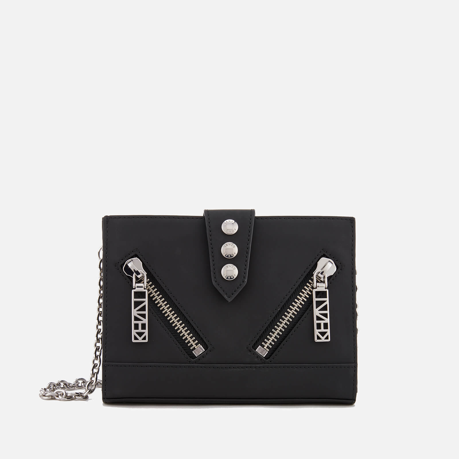 18b4b90b91 KENZO Women's Kalifornia Wallet on a Chain Crossbody Bag - Black