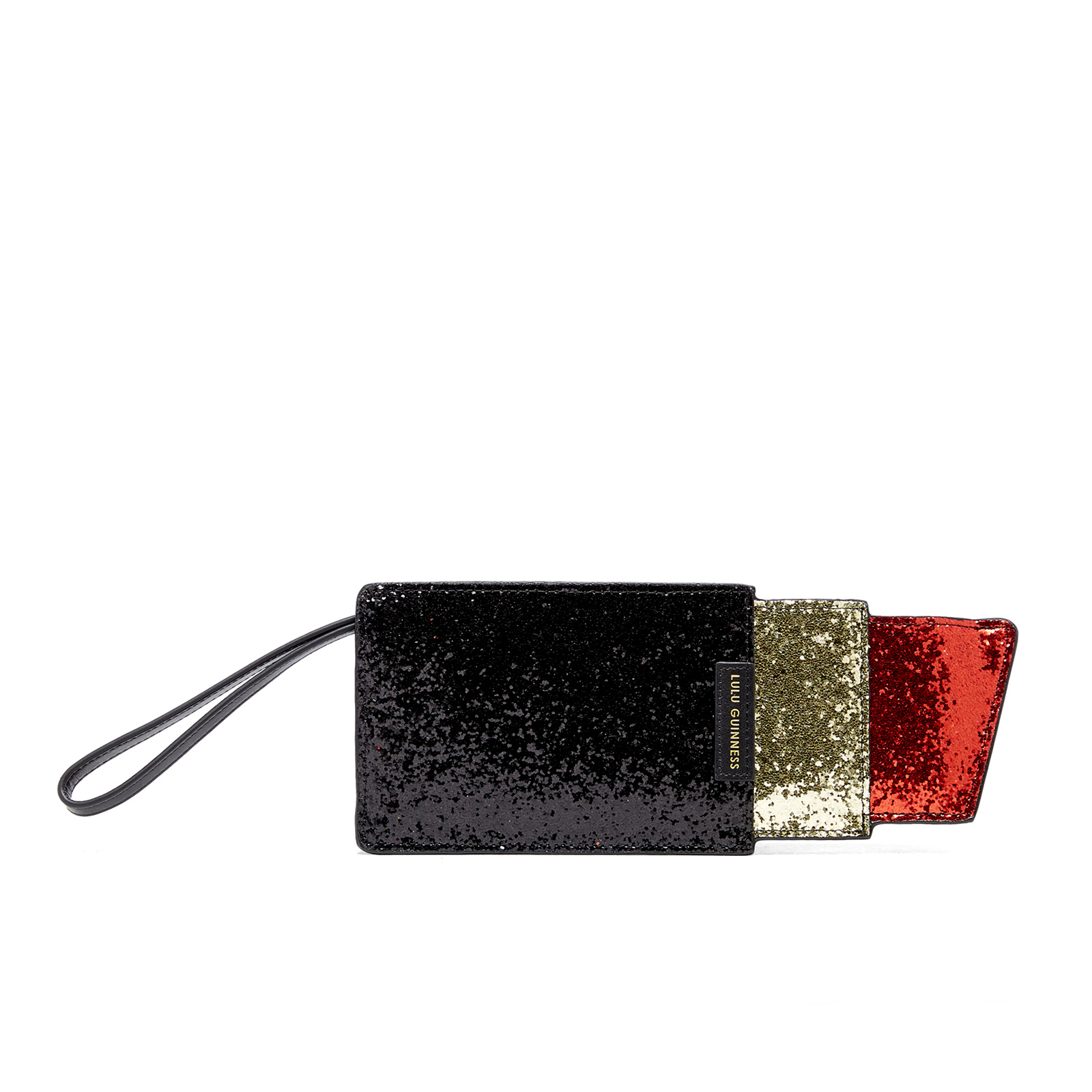 770abcc806f5 Lulu Guinness Women s Glitter Lipstick Pouch - Black Red - Free UK Delivery  over £50