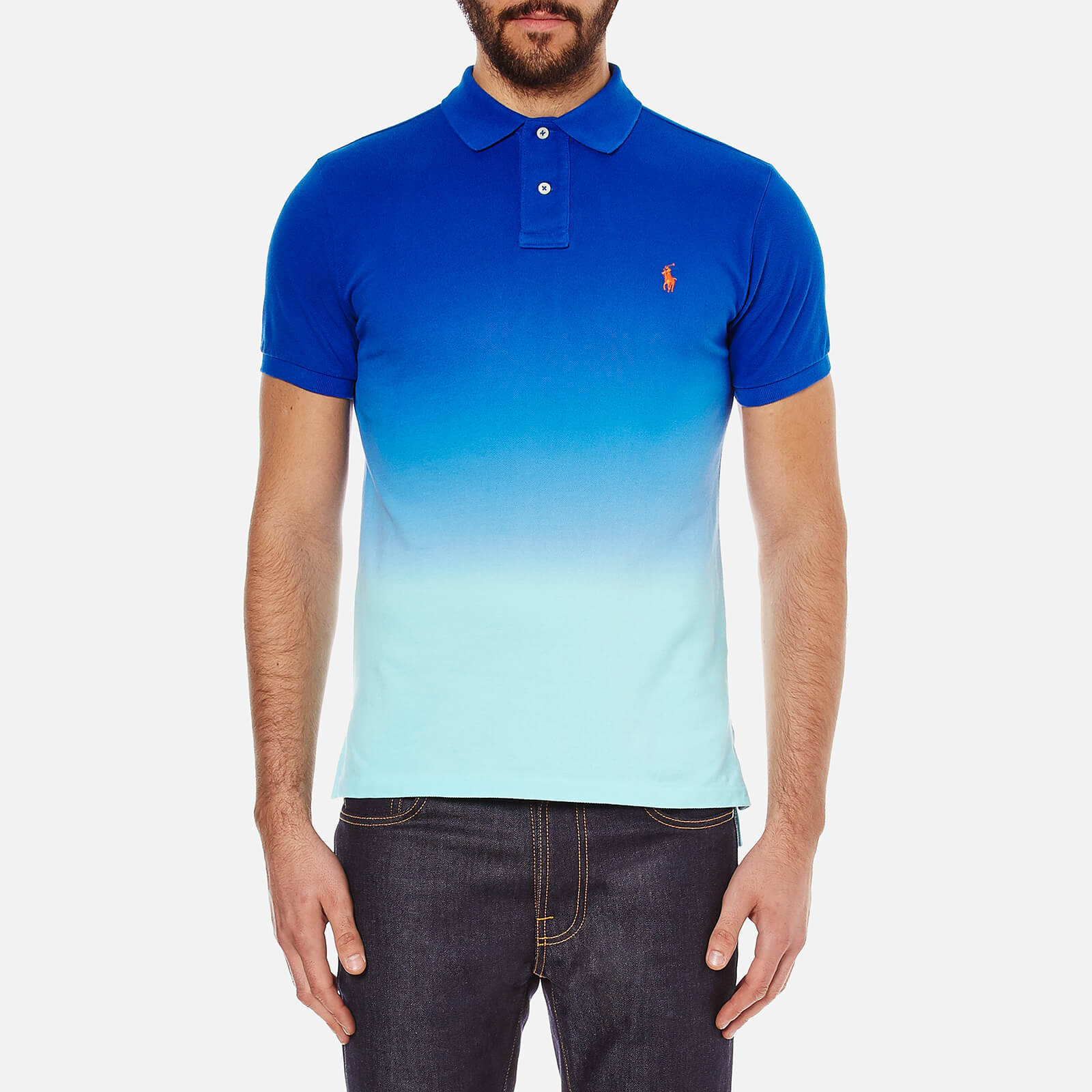 637eee20e Polo Ralph Lauren Men s Dip Dyed Polo Shirt - Bright Imperial Blue - Free  UK Delivery over £50